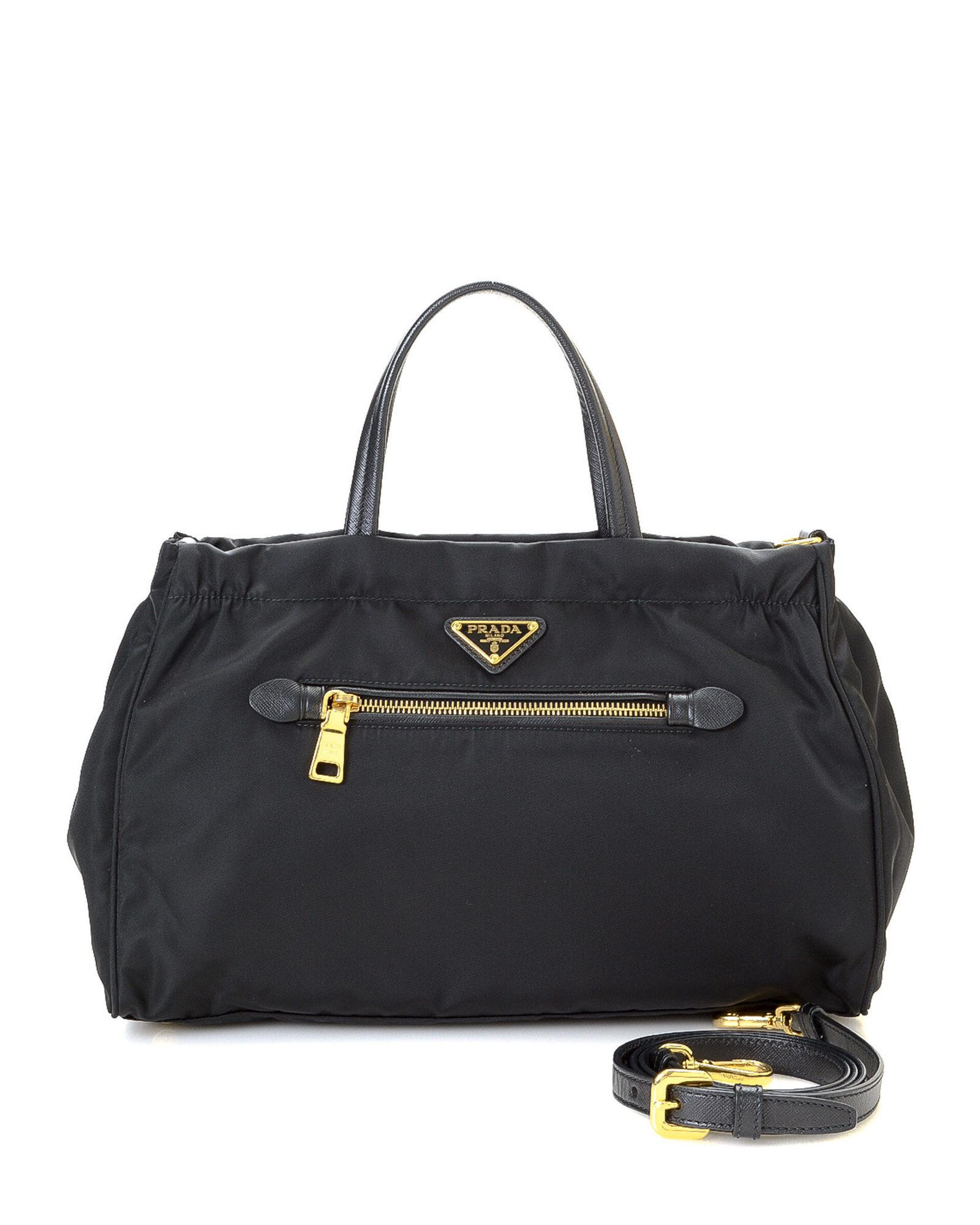 8b3c7a9e579e Lyst - Prada Tessuto Two Way Tote - Vinatge in Black