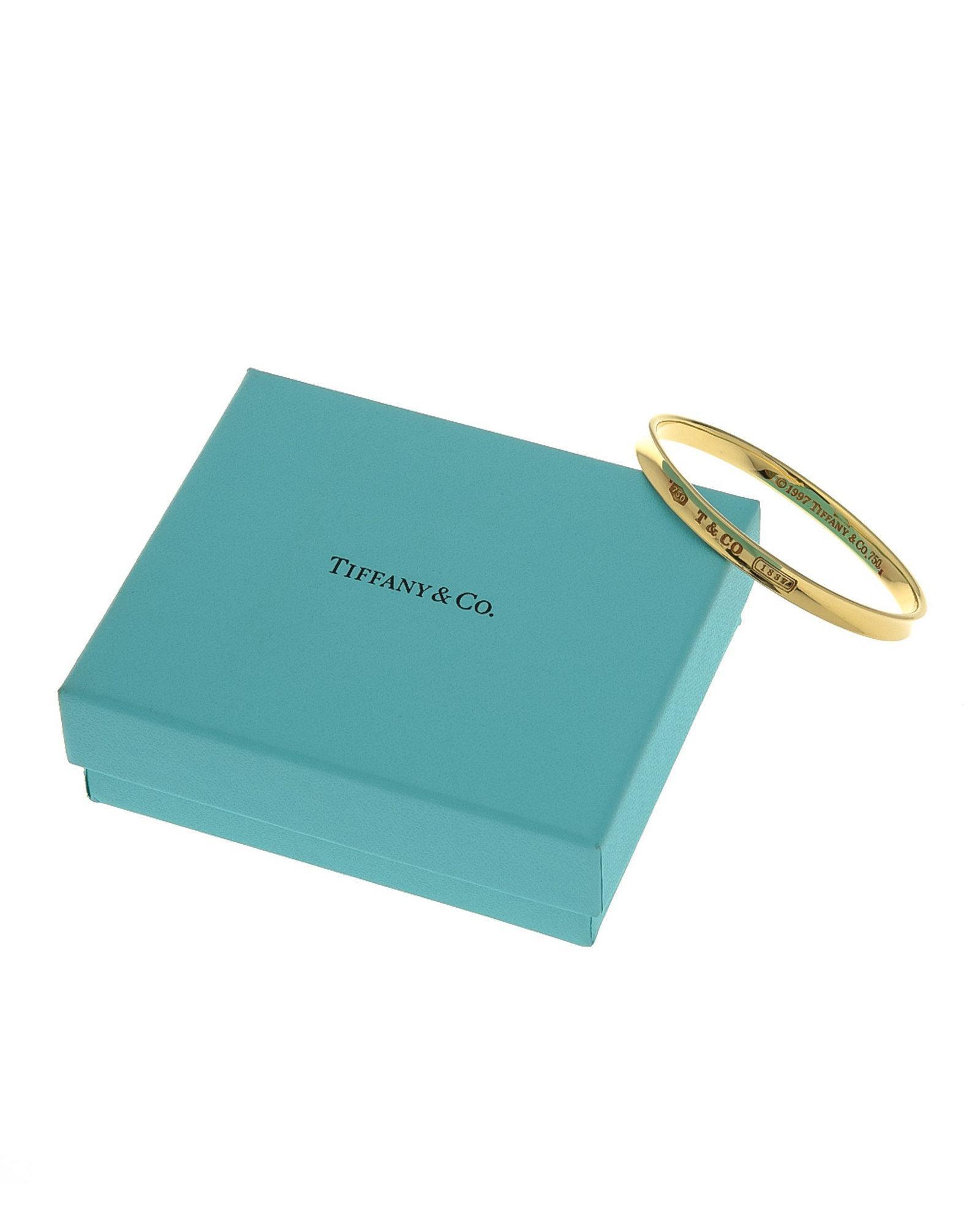 75dd09ad1 Tiffany & Co. 1837 Bangle - Vintage in Metallic - Lyst