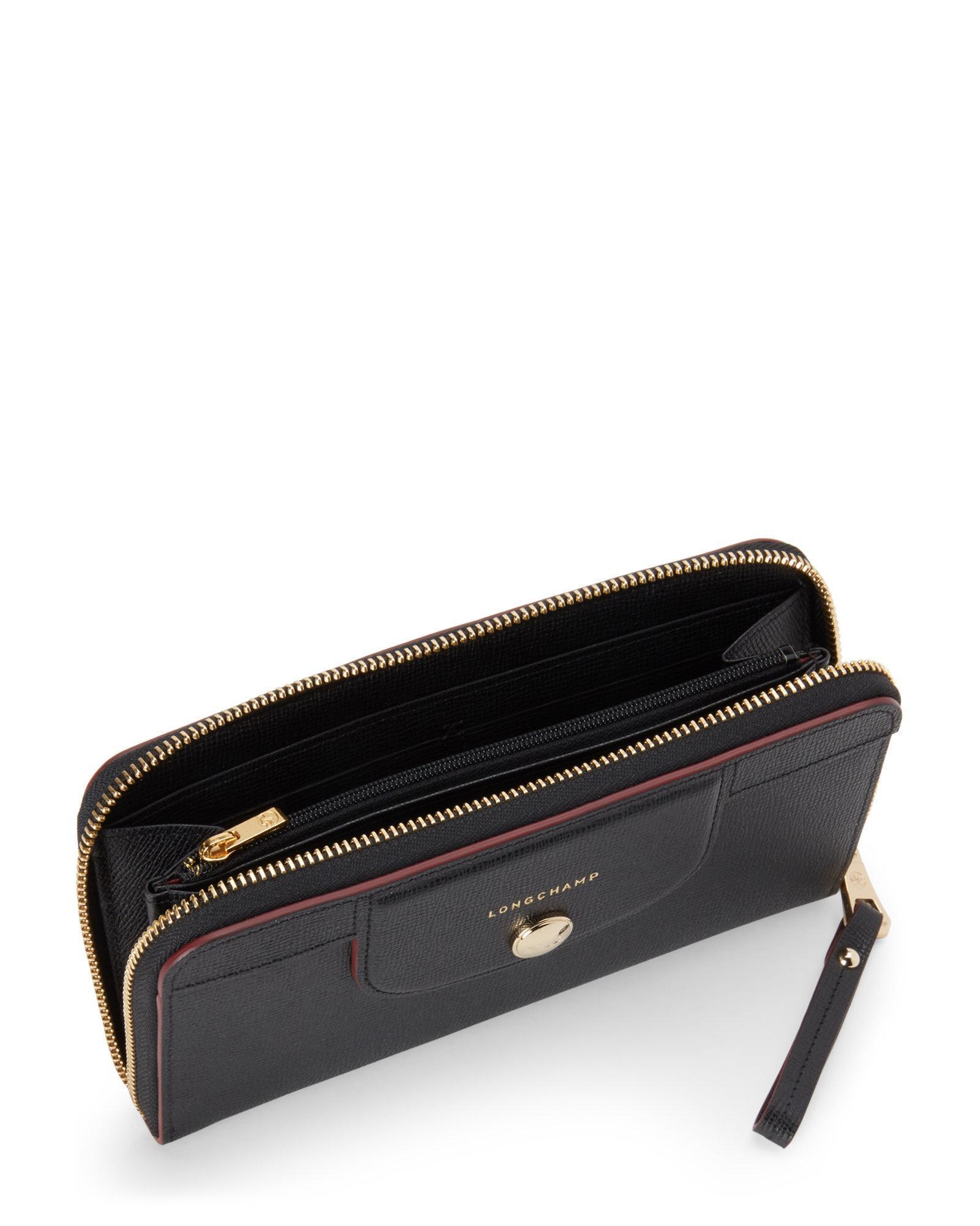 all around zip wallet - Black Longchamp 8wG7BChQ