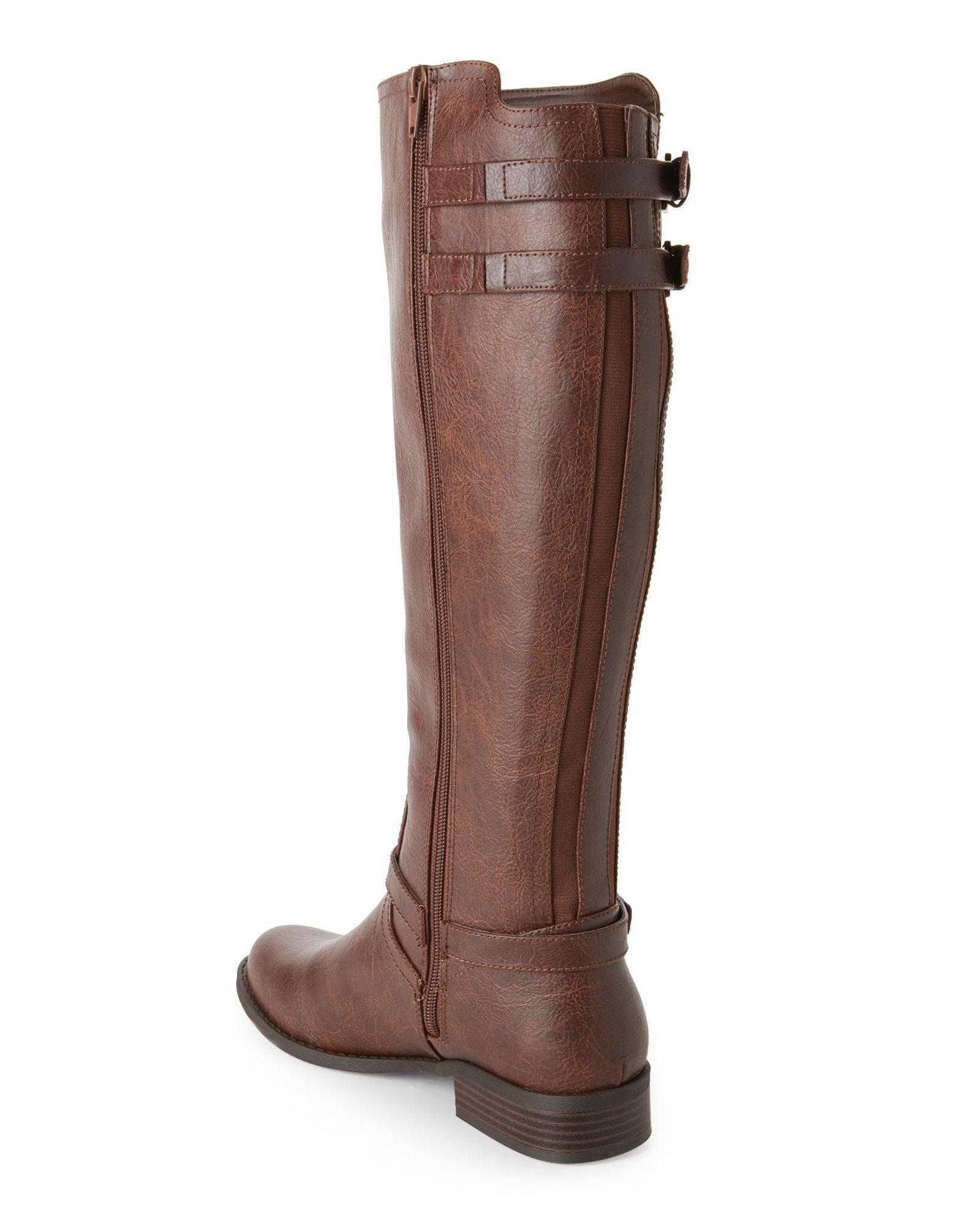 Lyst G By Guess Brown Hentai Riding Boots In Brown