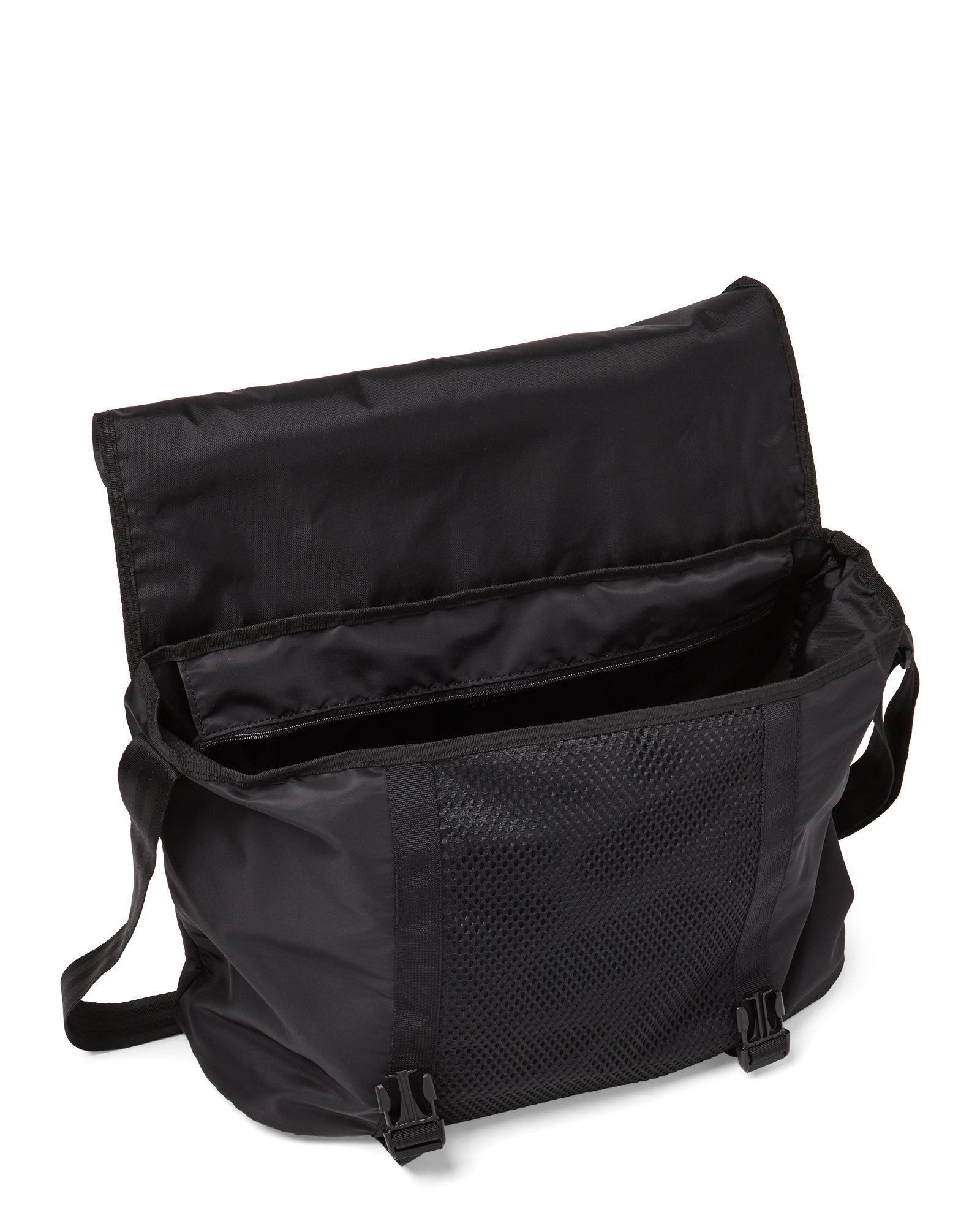 7adf16d4704 Lyst - Armani Jeans Black Logo Messenger Bag in Black for Men