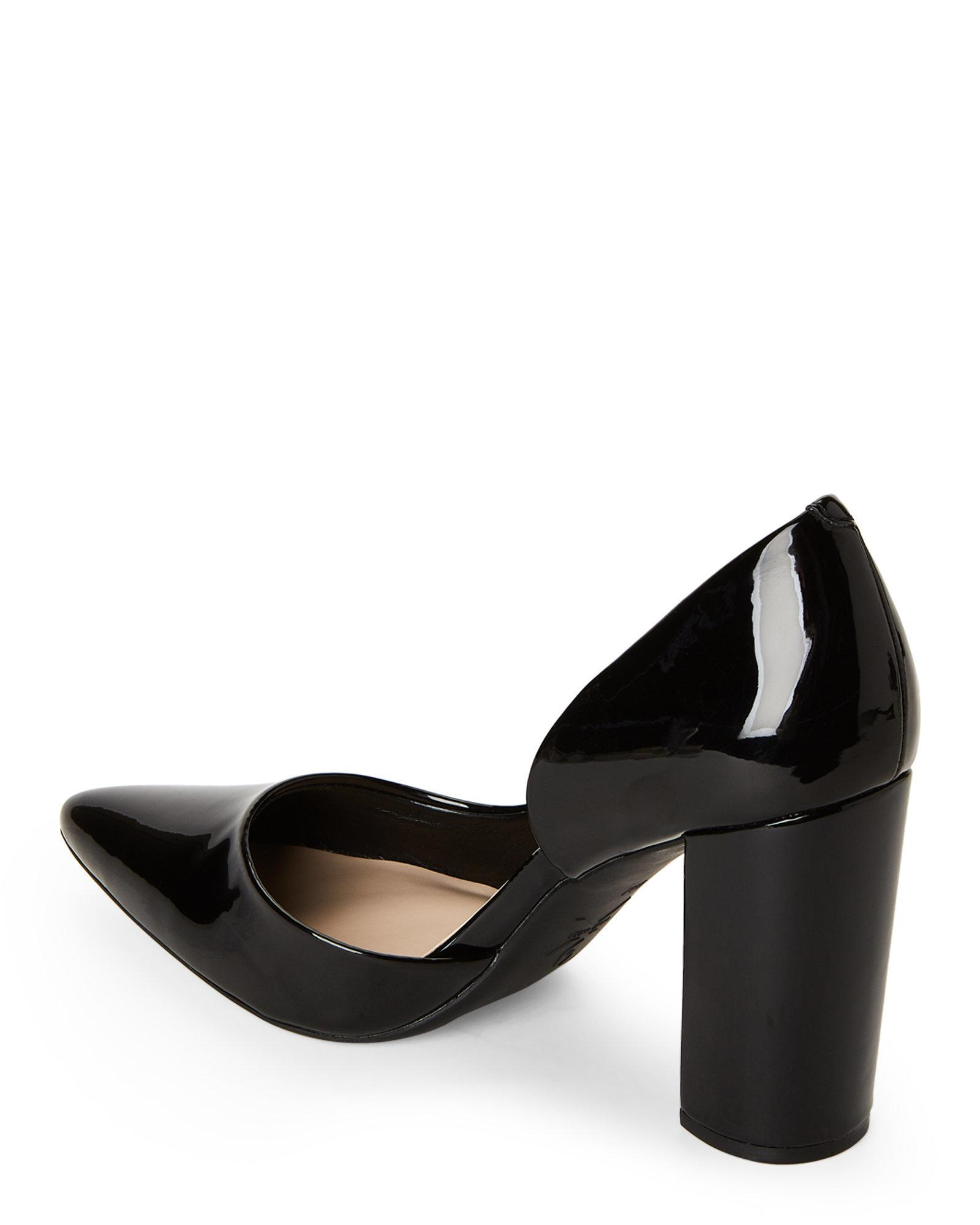 c0e315a9c5 Nine West Black Anisa Block Heel D'orsay Pumps in Black - Lyst