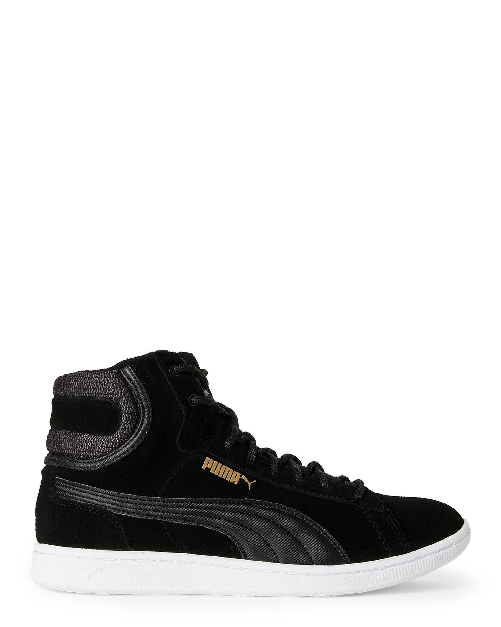 huge discount f70ea 99bd6 PUMA Black Vikky Mid Twill Sneakers in Black for Men - Lyst