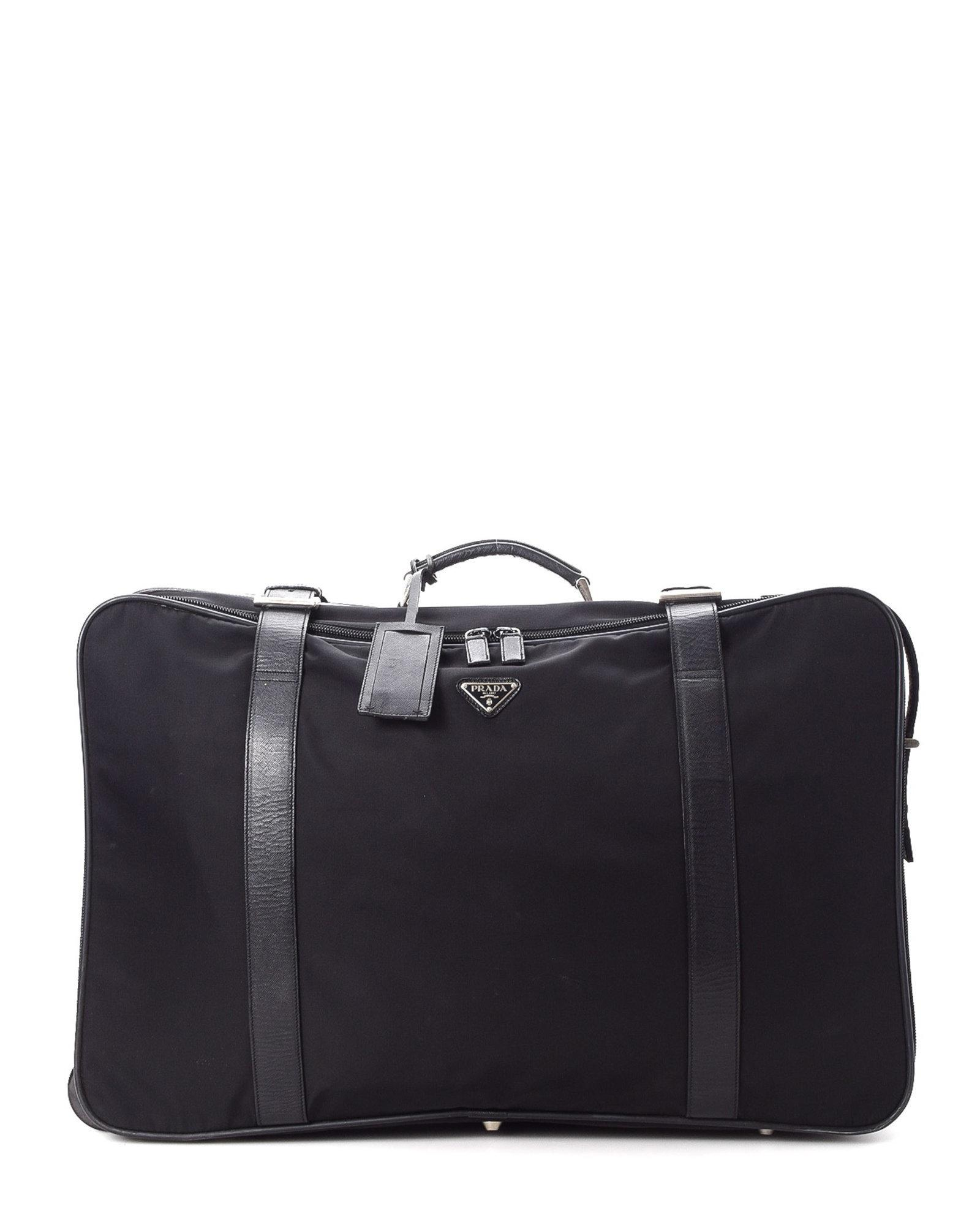 02614fe7c3aac3 ... best price prada black tessuto travel bag vintage lyst. view fullscreen  0520d 2e3aa