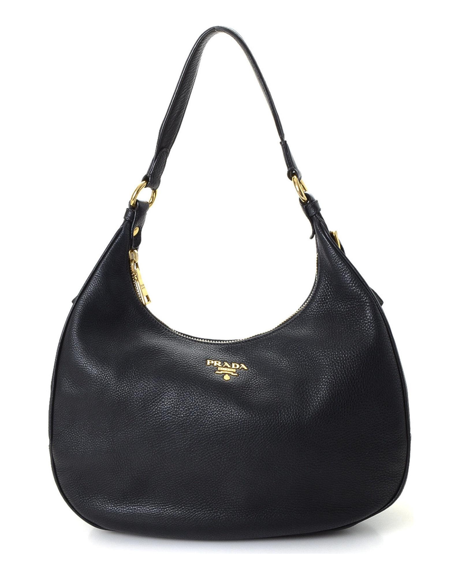 4d8774d81c41 Lyst - Prada Vitello Daino Hobo Shoulder Bag - Vintage in Black