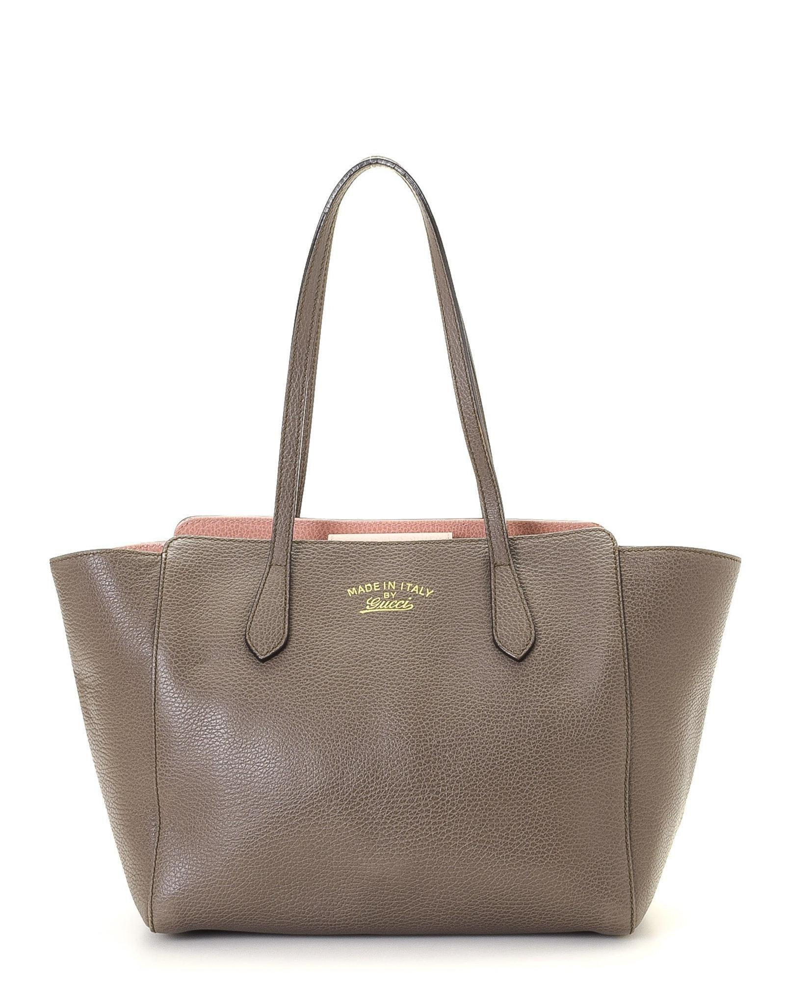 0aa30e33d7f3ad Lyst - Gucci Grey Tote - Vintage in Gray