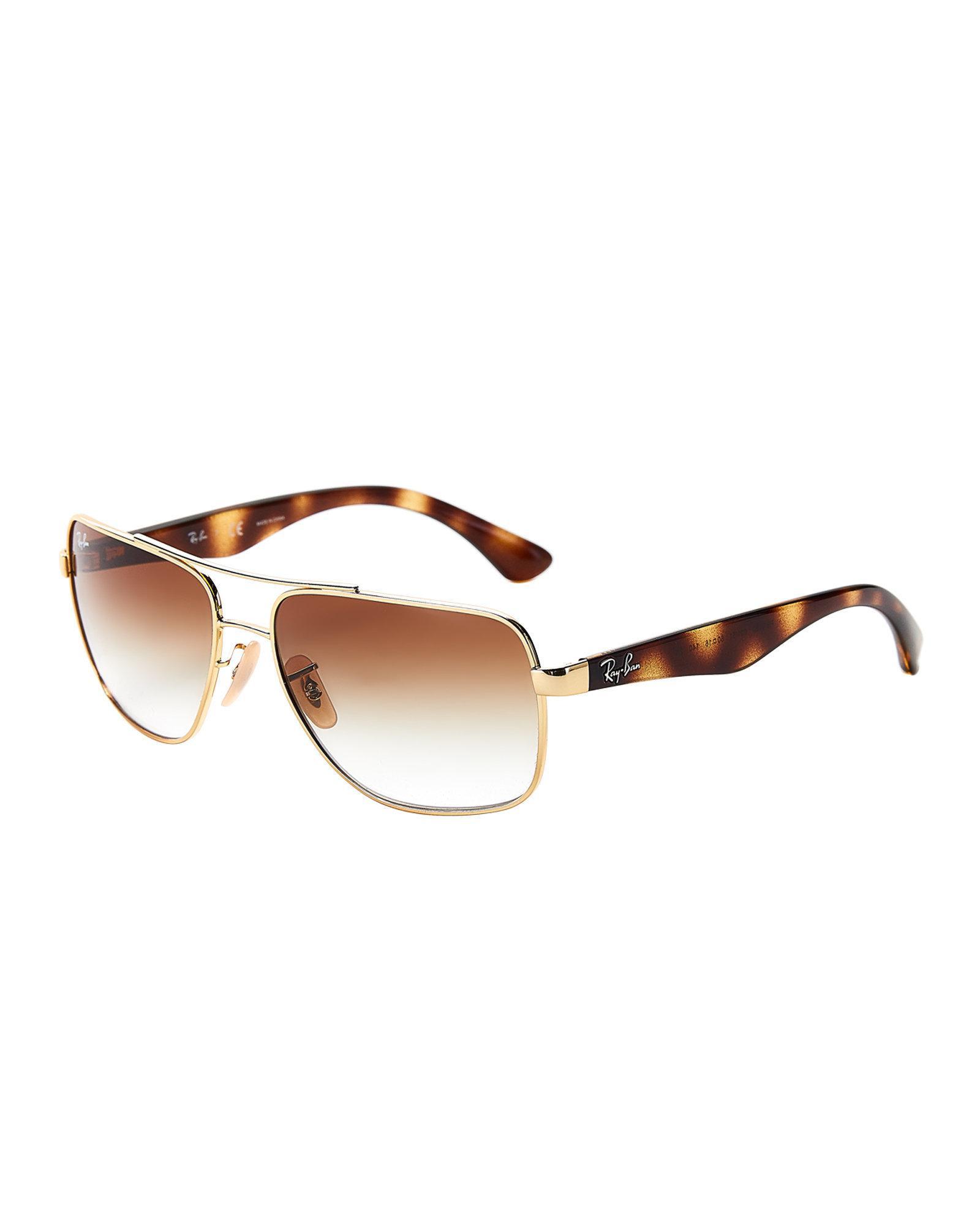 09f6af880d ... promo code for ray ban. mens rb3483 gold tone navigator sunglasses  ab336 4273f ...