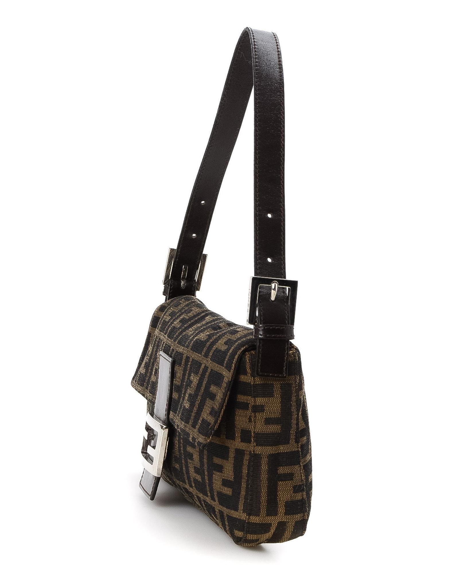 bd865ffa8 Fendi Zucca Baguette Shoulder Bag - Vintage in Brown - Lyst