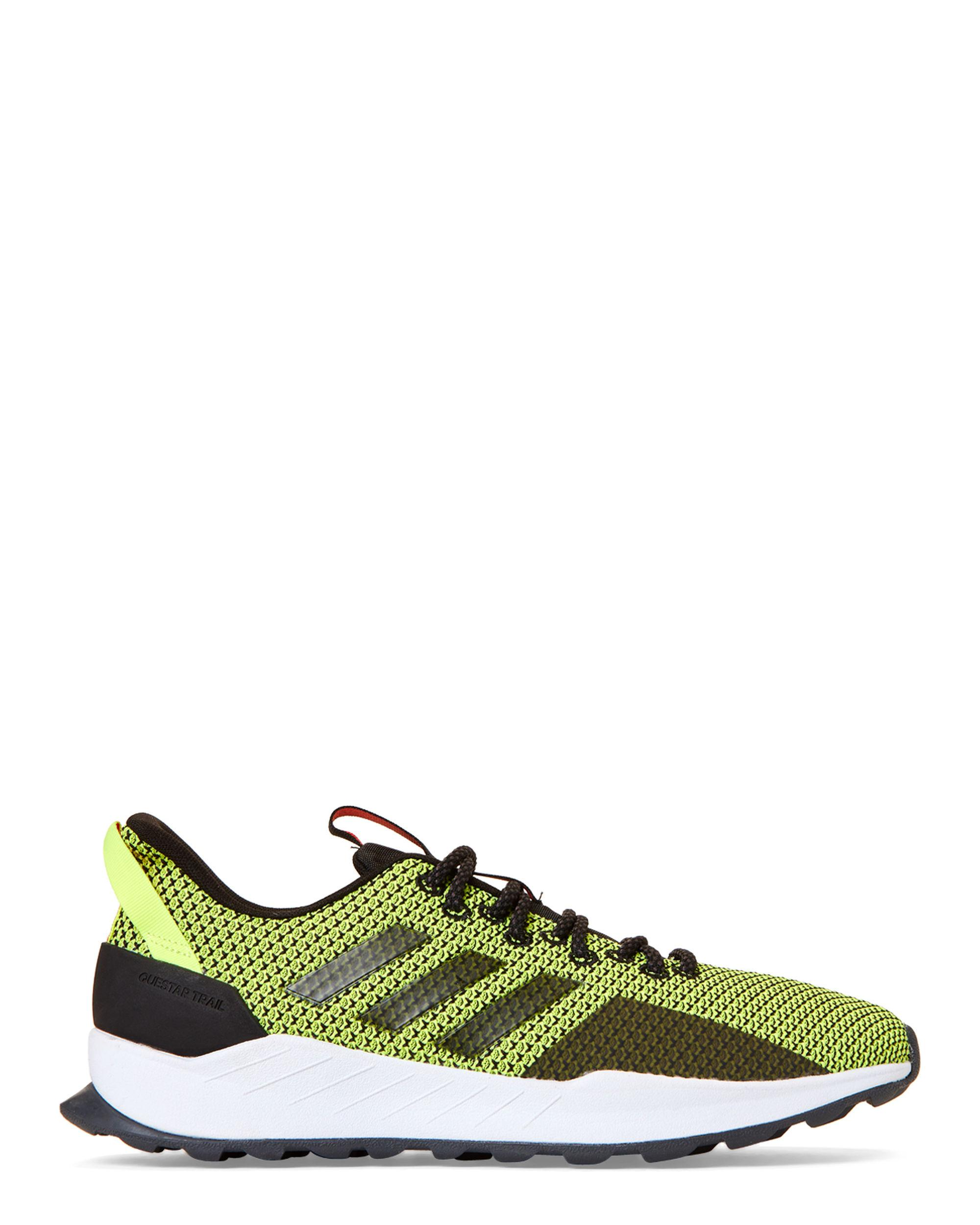 e03a9dc7d6662 Lyst - adidas Black   Hi-res Yellow Questar Trail Running Sneakers in Black  for Men