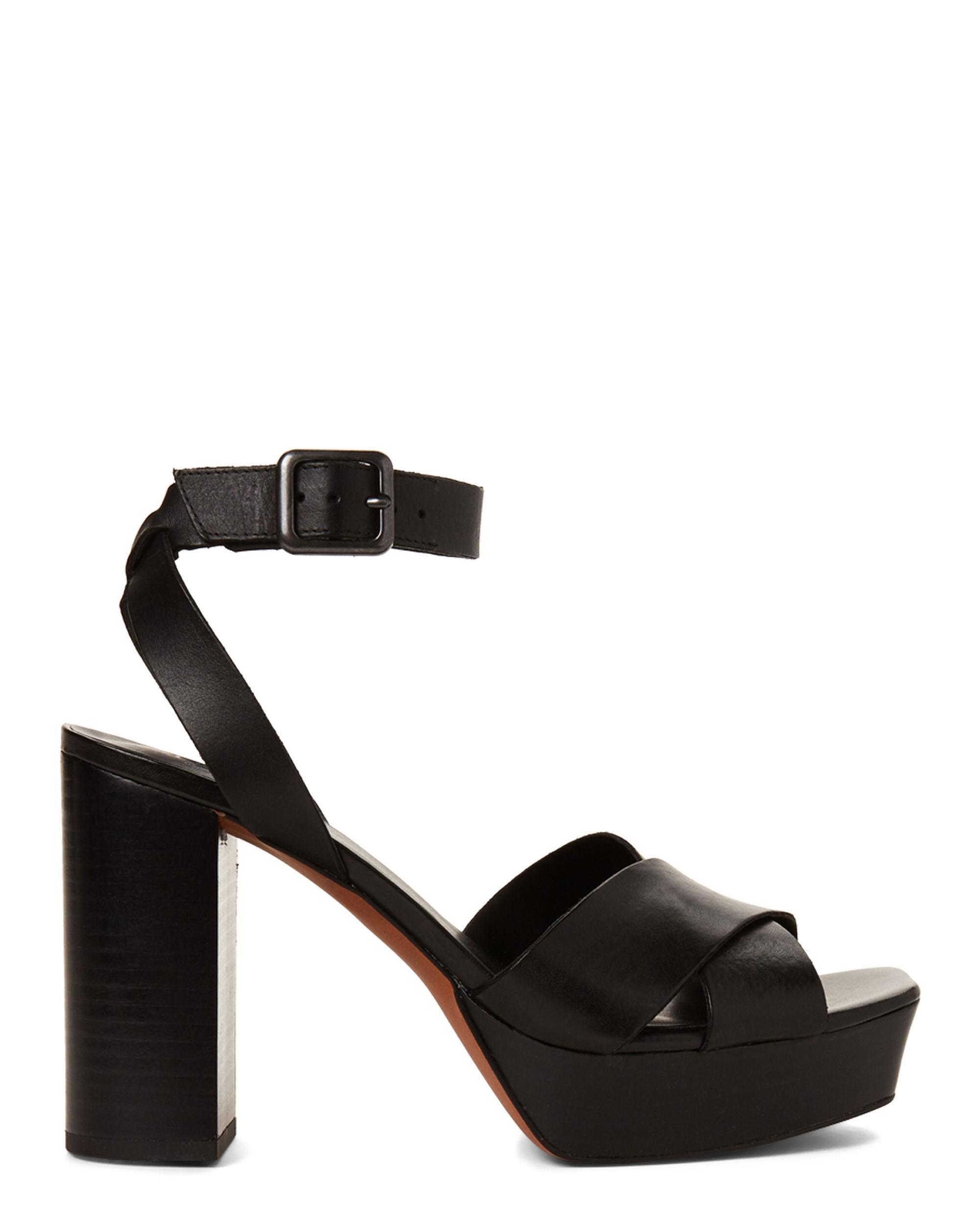 9e646f639be2 Lyst - Franco Sarto Black Marta Platform Leather Sandals in Black