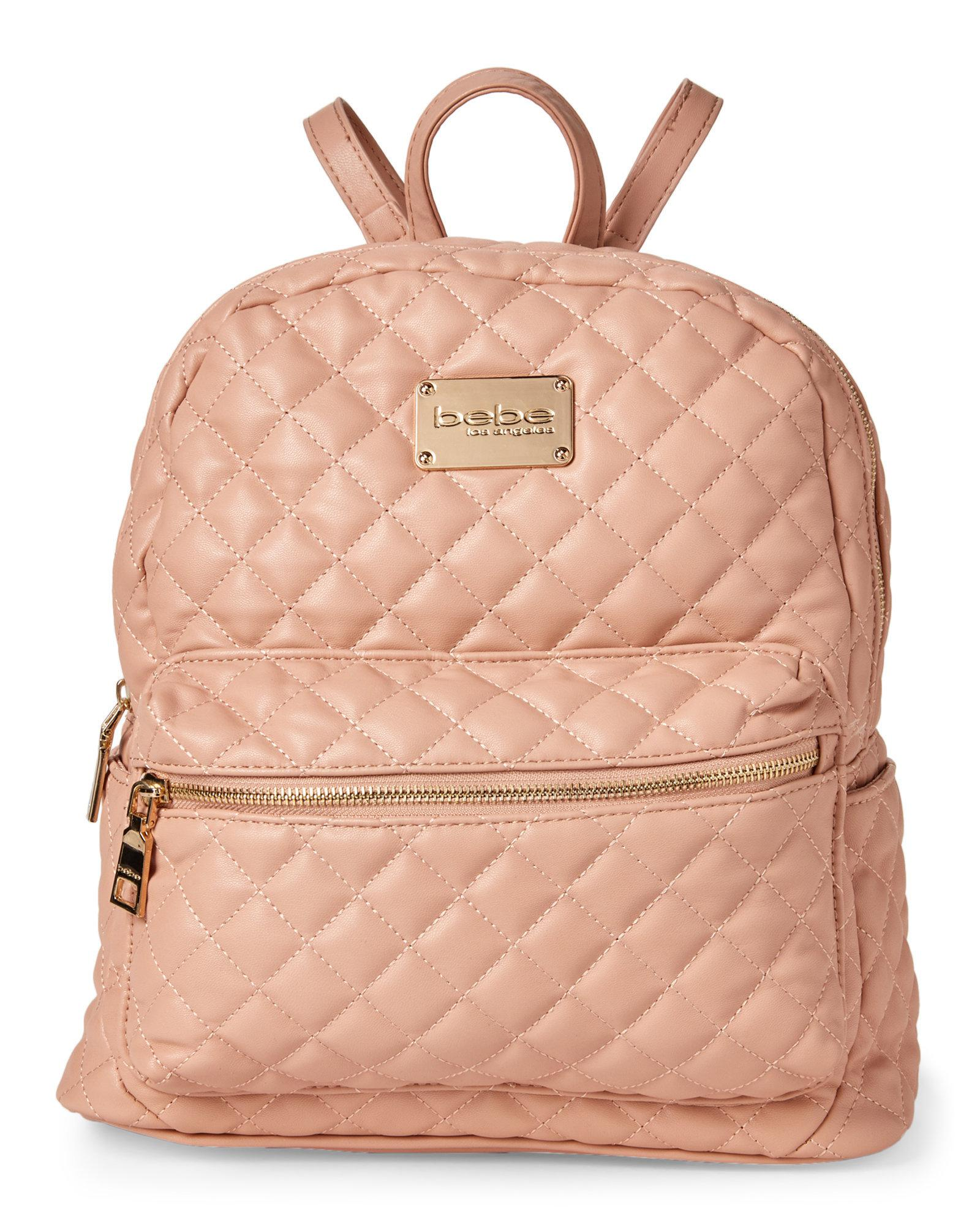 8907d6958ac Bebe Blush Maria Quilted Backpack in Pink - Lyst