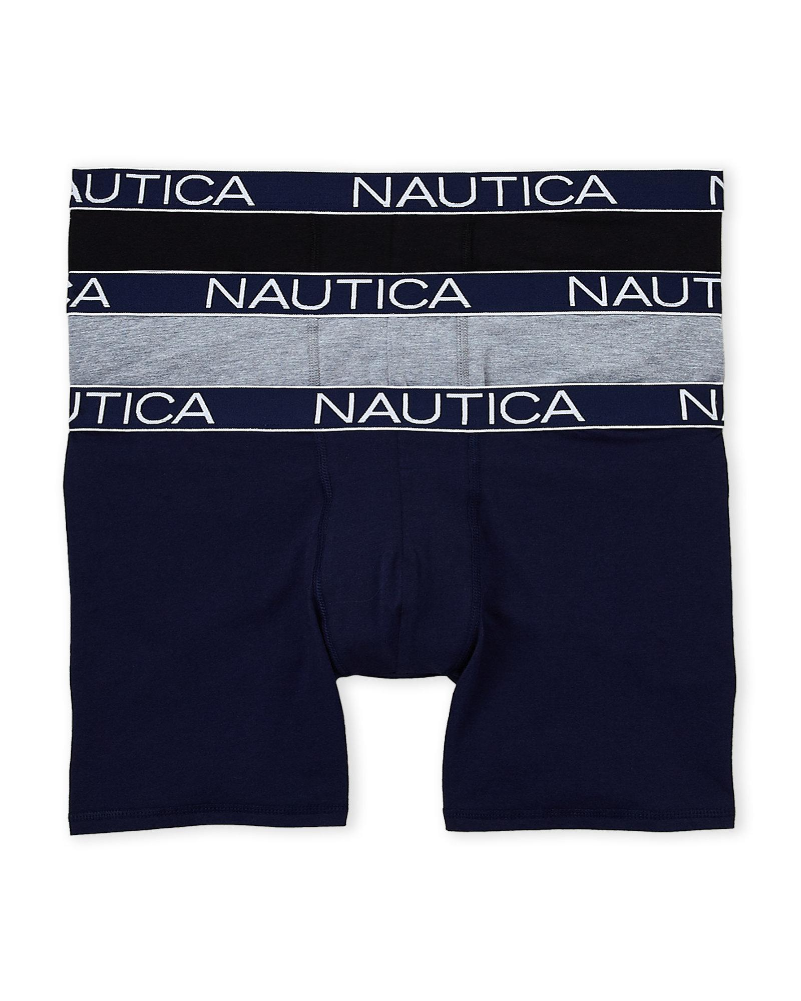 5d01ccabc753 Nautica 3-pack Stretch Boxer Briefs for Men - Lyst