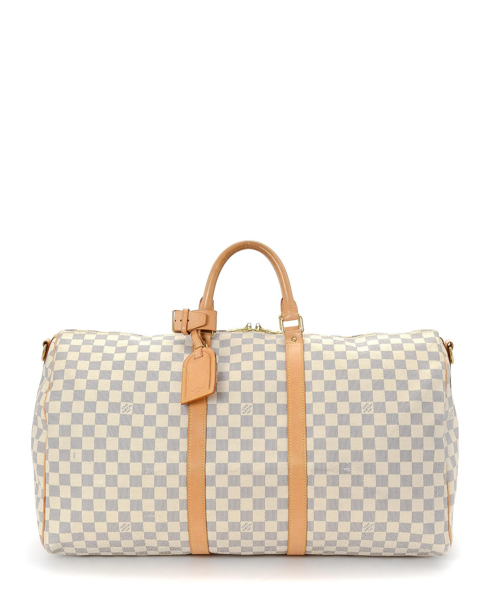 747e74736536 Louis Vuitton Keepall Bandoulière 55 Travel Bag - Vintage in White ...