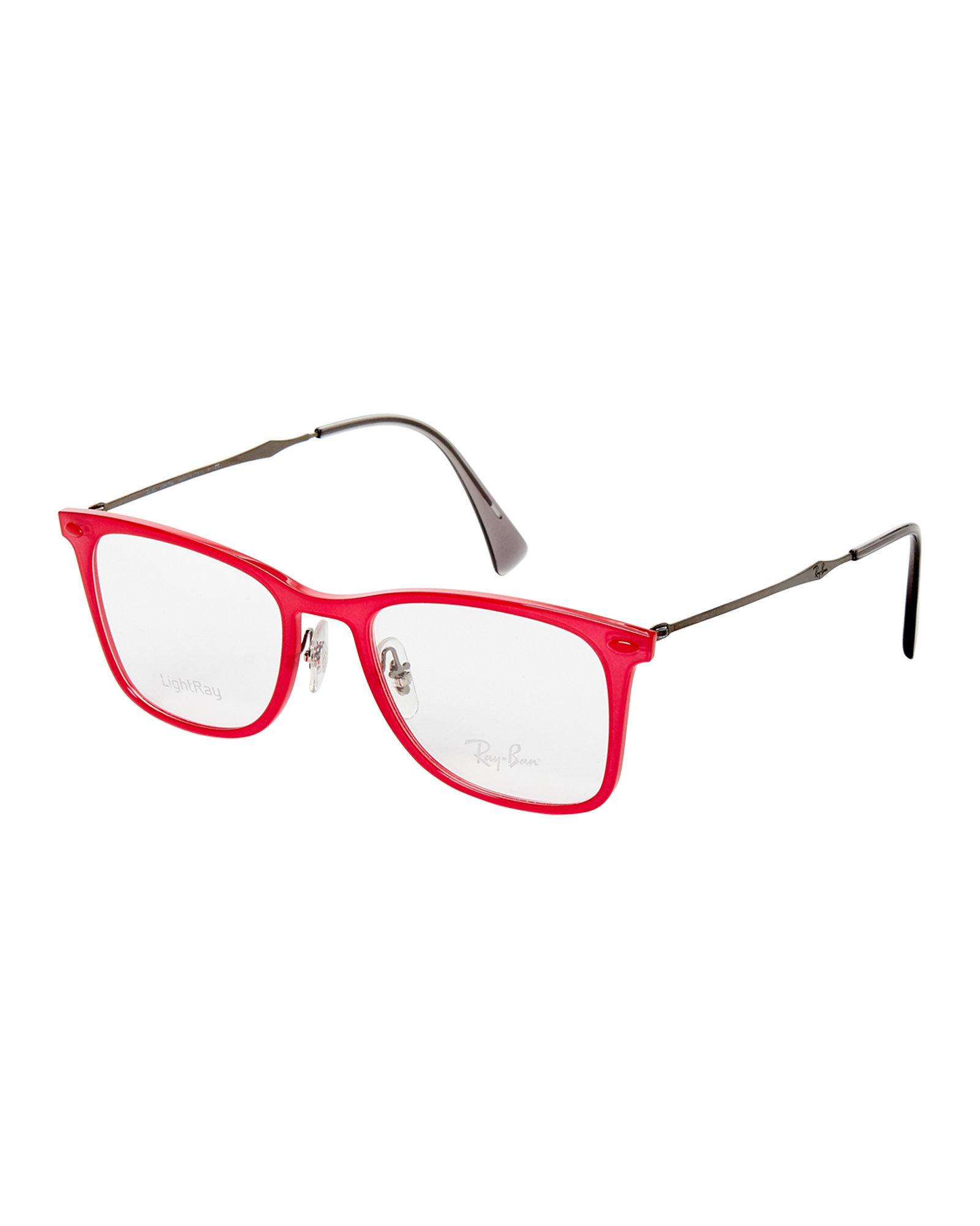 14f7e5b0ac ... spain lyst ray ban rb7086 red lightray square optical frames in red  50aa8 92f16 ...