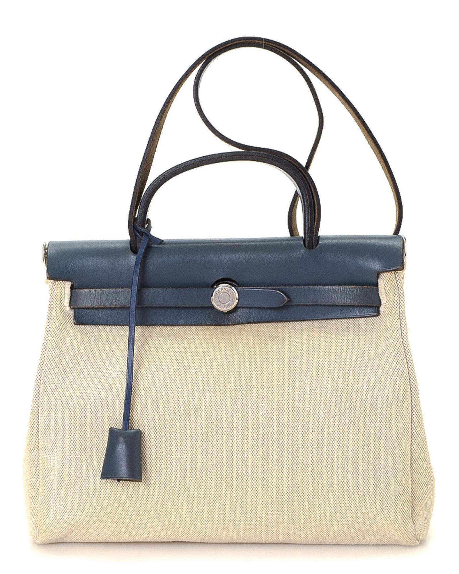 93d1ba5e96 Lyst - Hermès Herbag Pm Handbag - Vintage in Natural
