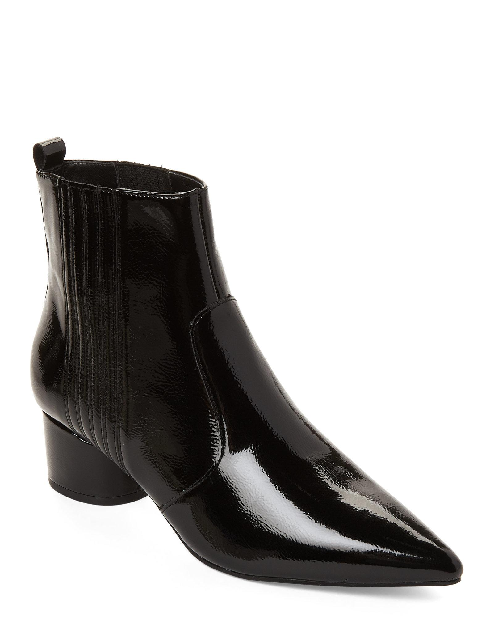 240dfe3db0f Lyst - Kendall + Kylie Black Lalia Patent Leather Ankle Boots in Black