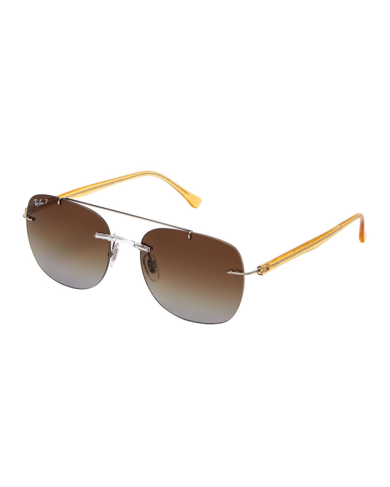 cc475c6349c Lyst - Ray-Ban Rb 4280 Smoke Navigator Sunglasses