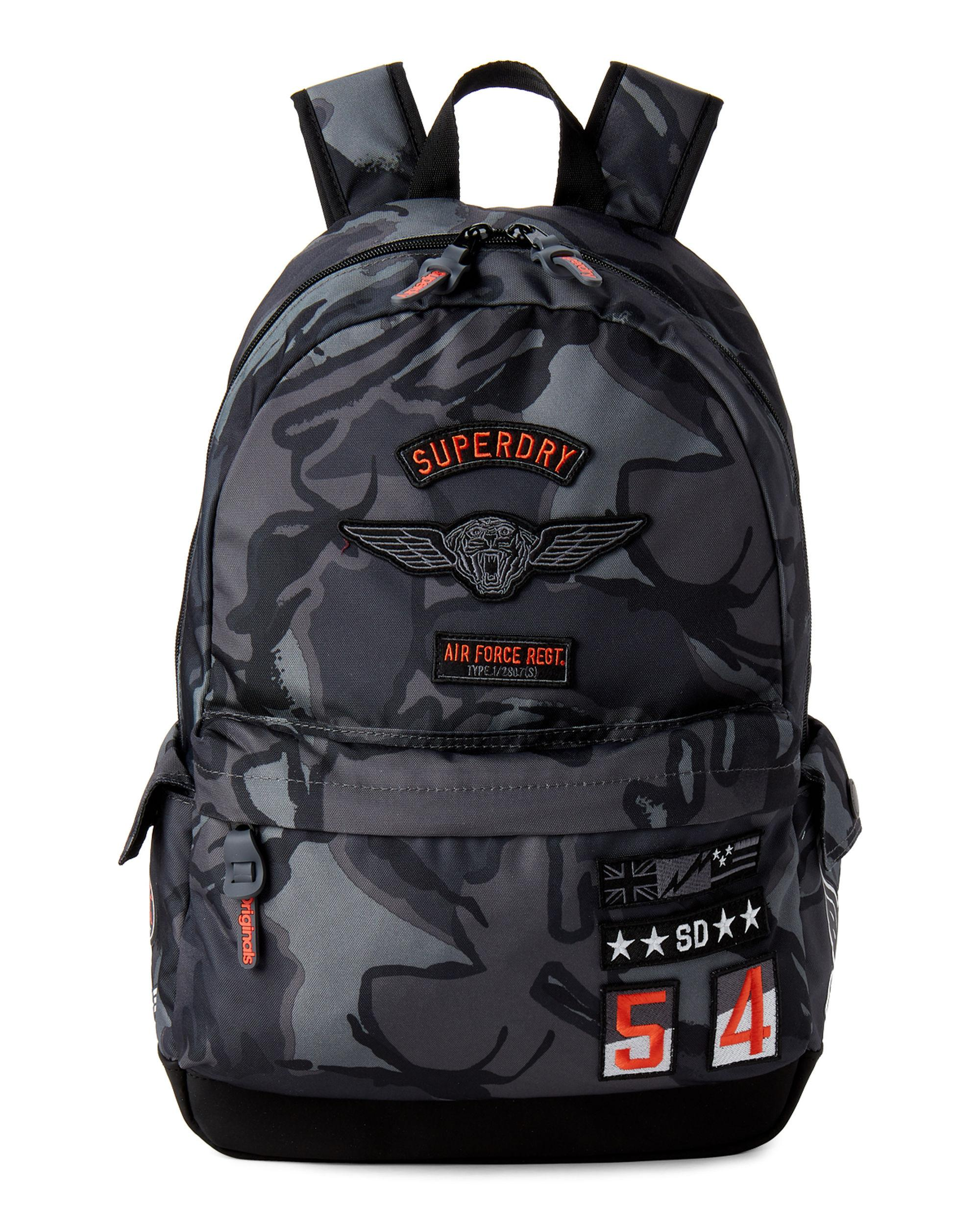 207c39cceae63 Superdry Mono Tarp Backpack Camo