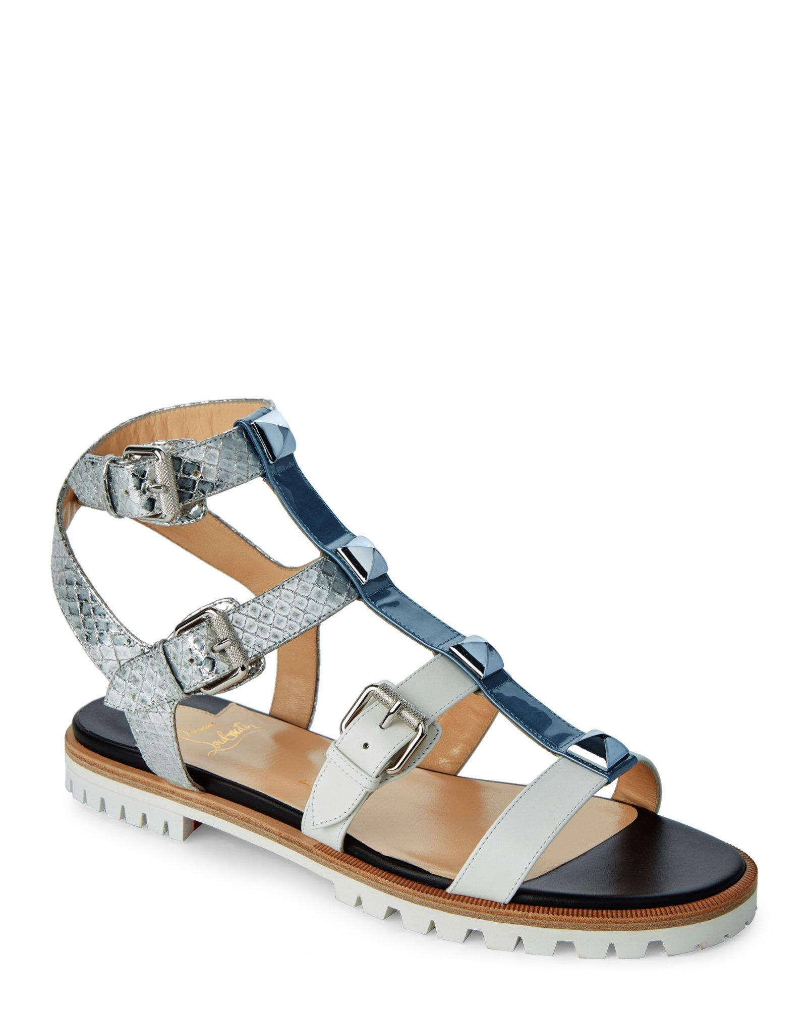 Christian Louboutin Thong Buckle Sandals clearance best 2ujC5sv27