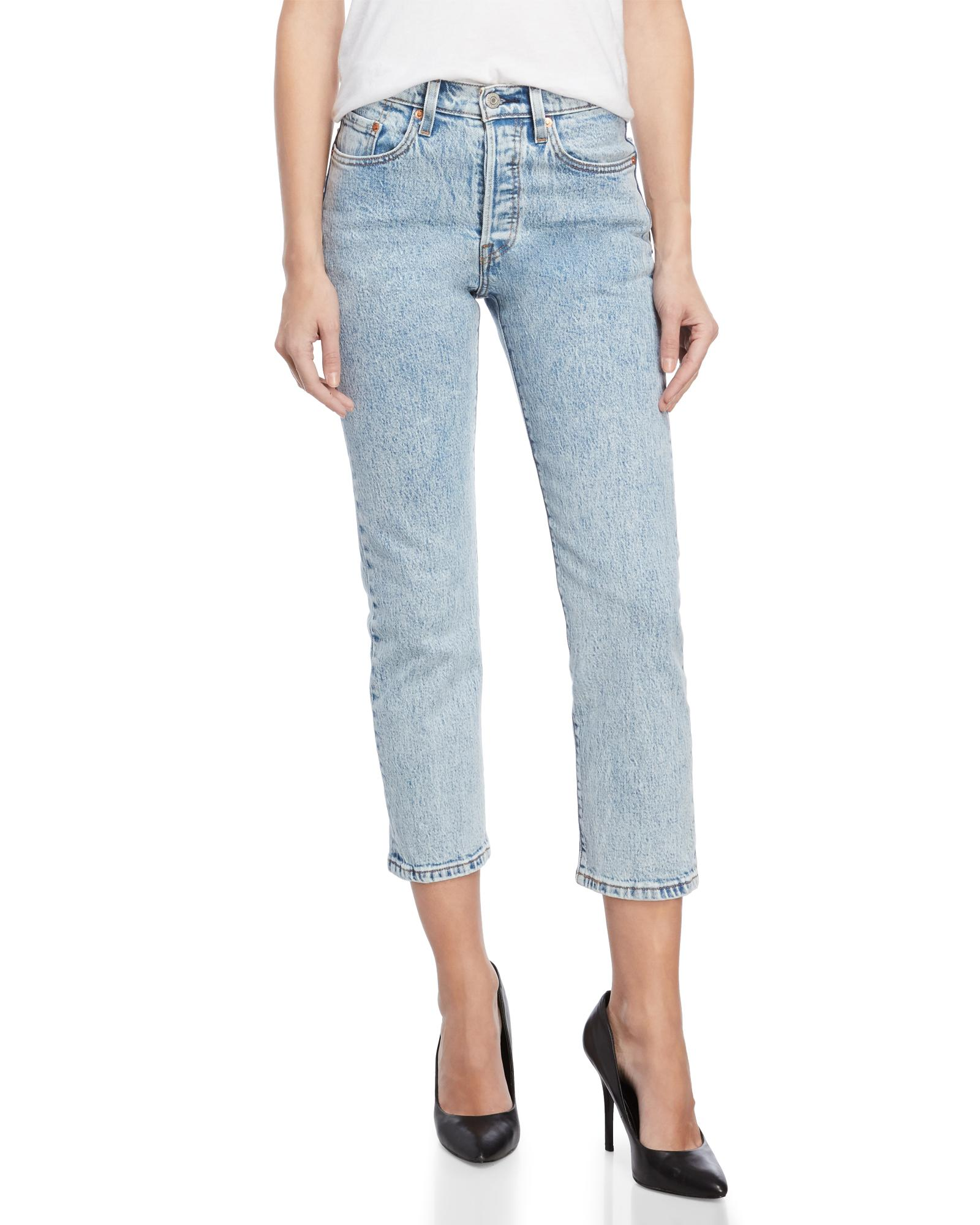 19000a80b53 Lyst - Levi's Stone Throw 501 Original Cropped Jeans in Blue