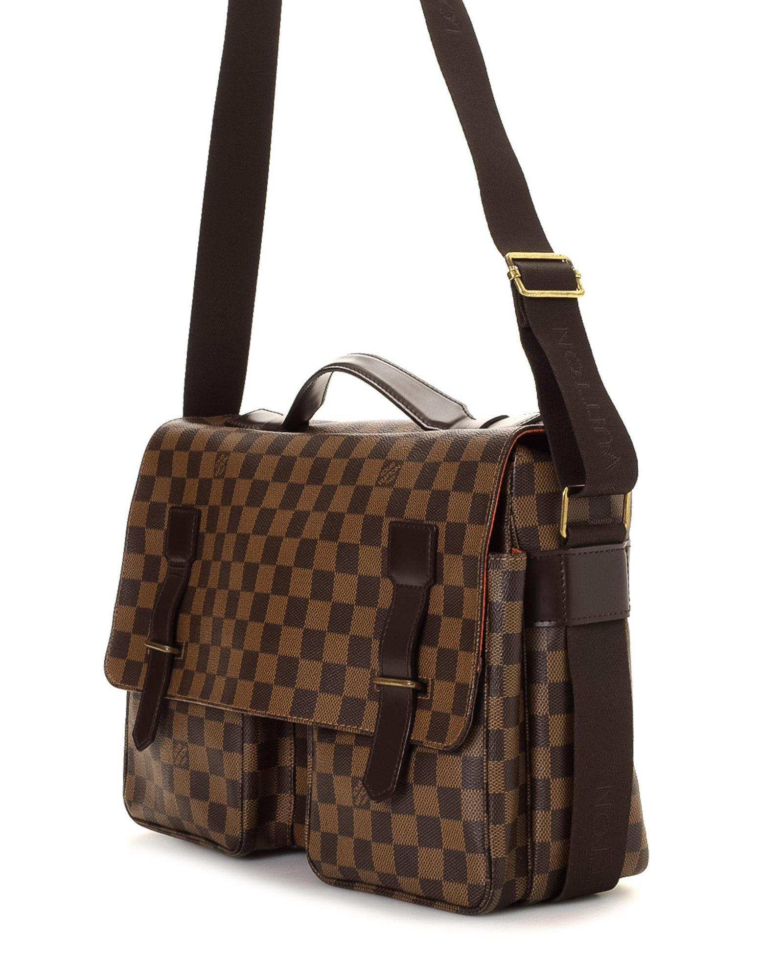 55545d5fb3ee Lyst - Louis Vuitton Damier Ebene Broadway Messenger Bag - Vintage ...