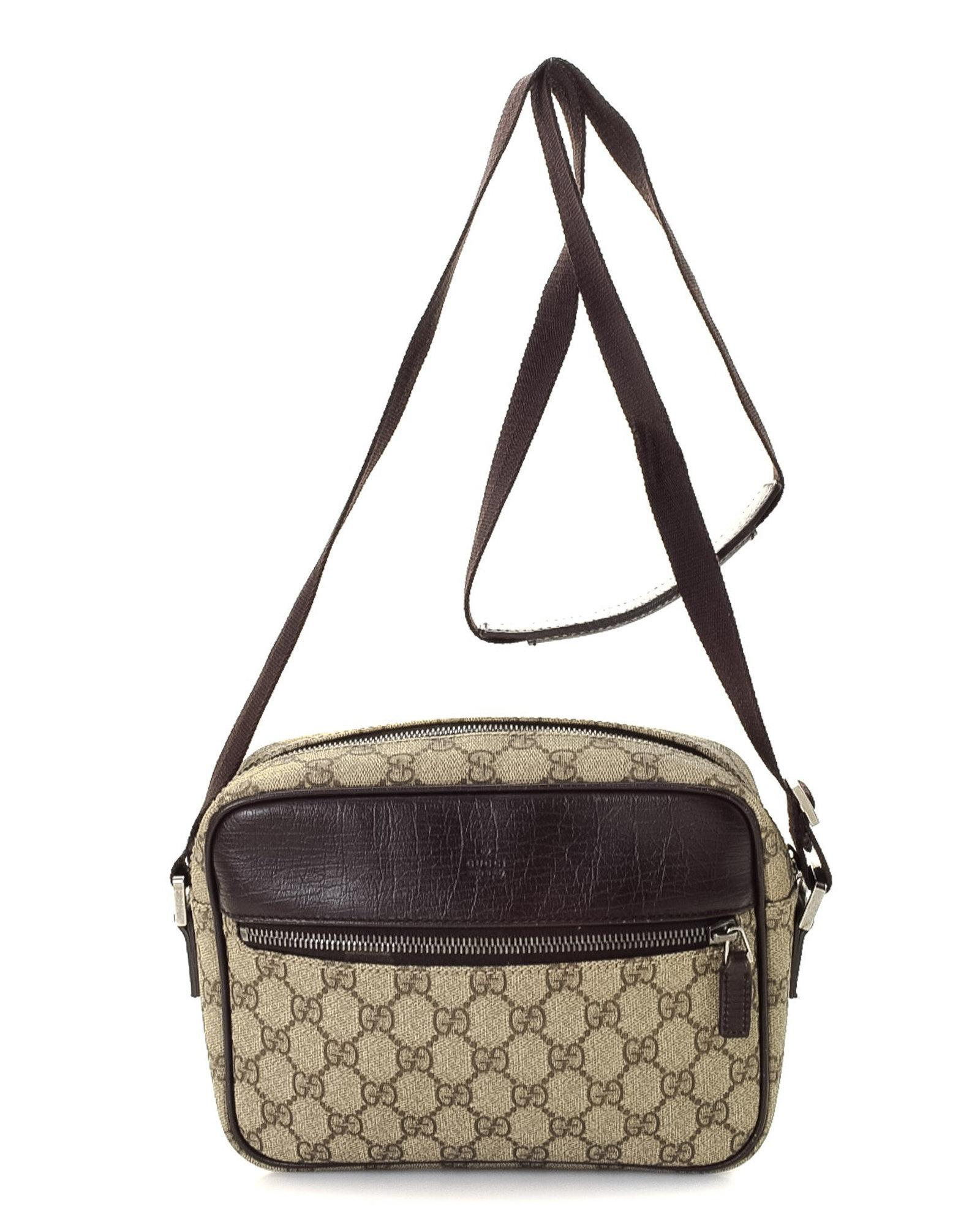 47a7fb919927d Lyst - Gucci Gg Supreme Crossbody Bag - Vintage in Natural