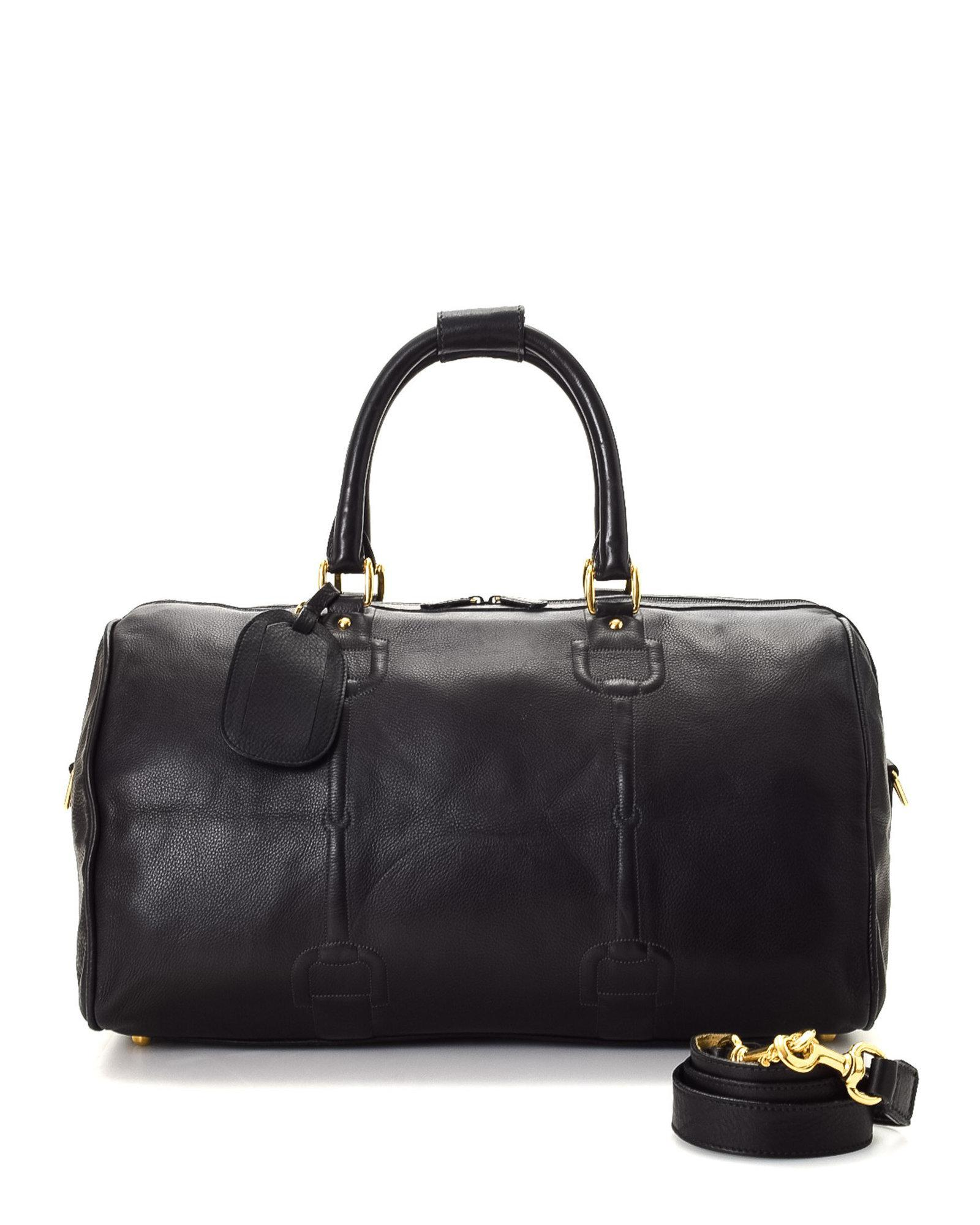 37d6f2a7805bff Gucci Horsebit Leather Travel Bag - Vintage in Black - Lyst