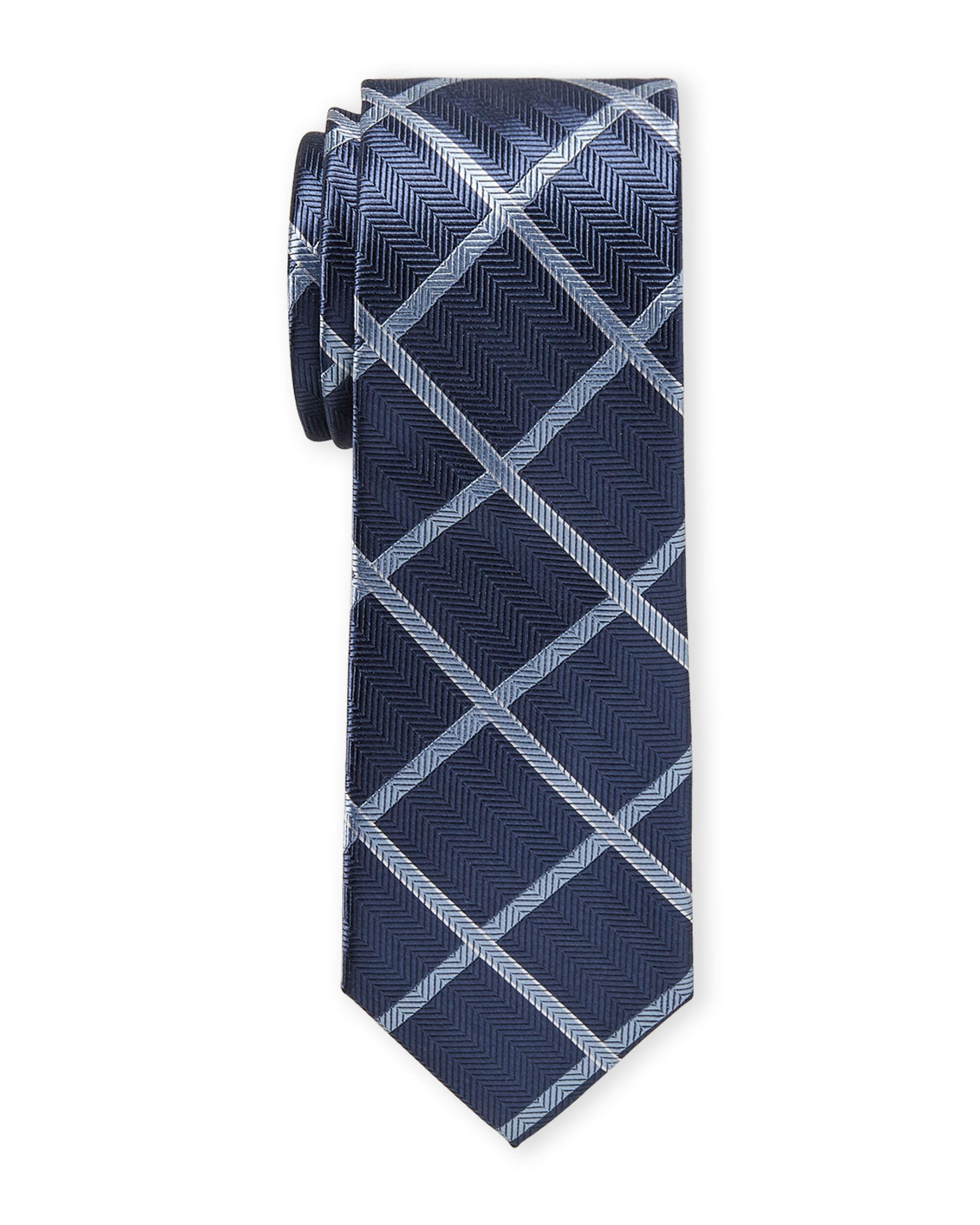 8c66b332384d MICHAEL Michael Kors Silk-blend Check Tie in Blue for Men - Lyst