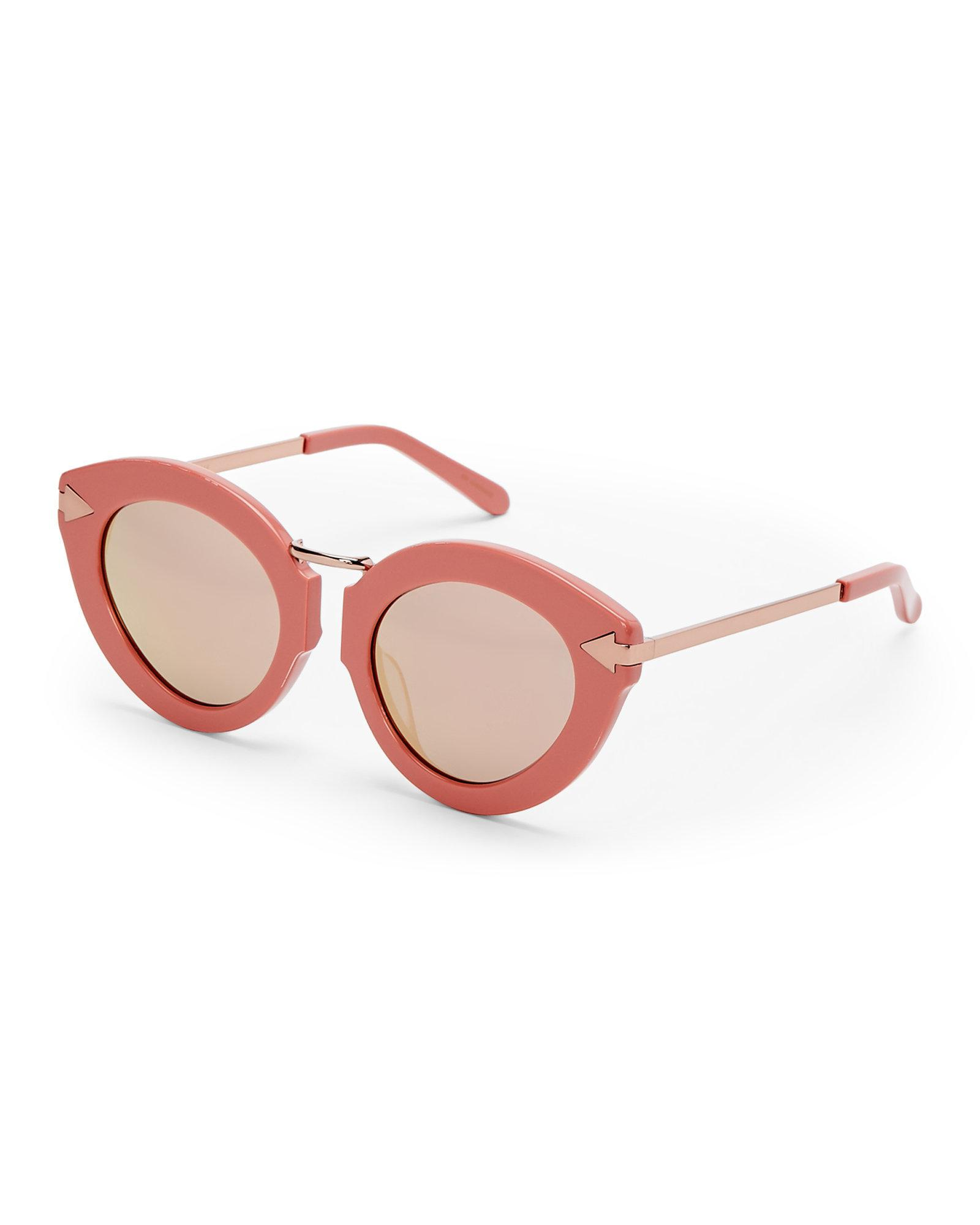 Lunar Flowerpatch Cat-eye Acetate And Rose Gold-tone Mirrored Sunglasses - Pink Karen Walker cmNLpaXiz3