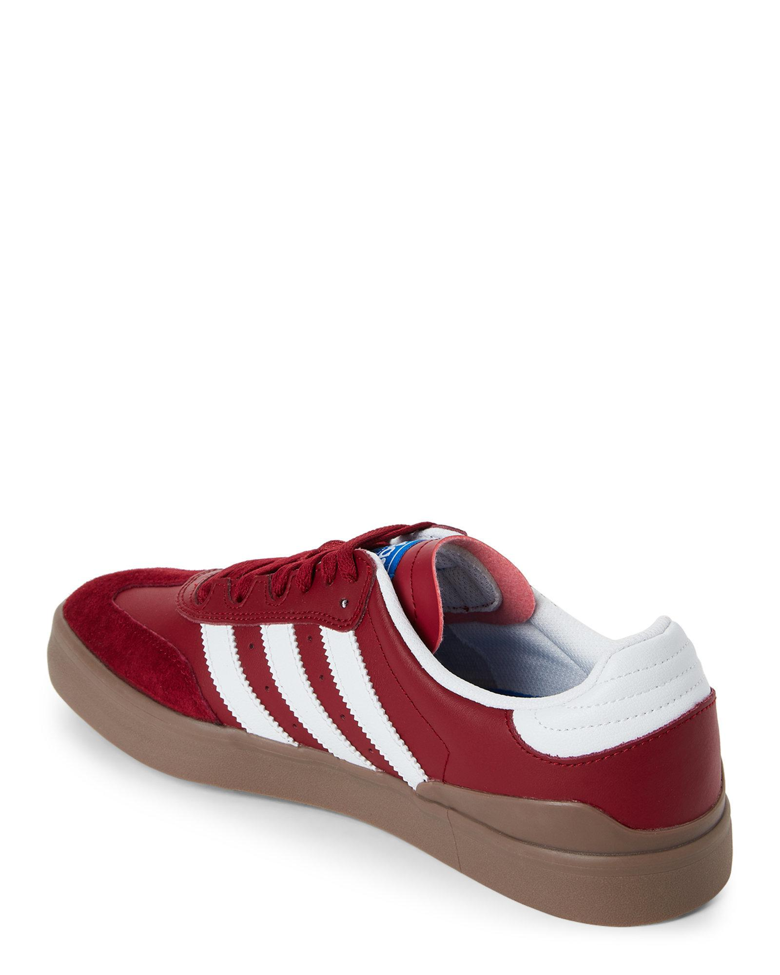 0154d16e354 Lyst - adidas Burgundy   White Busenitz Vulc Rx Low-top Sneakers in ...