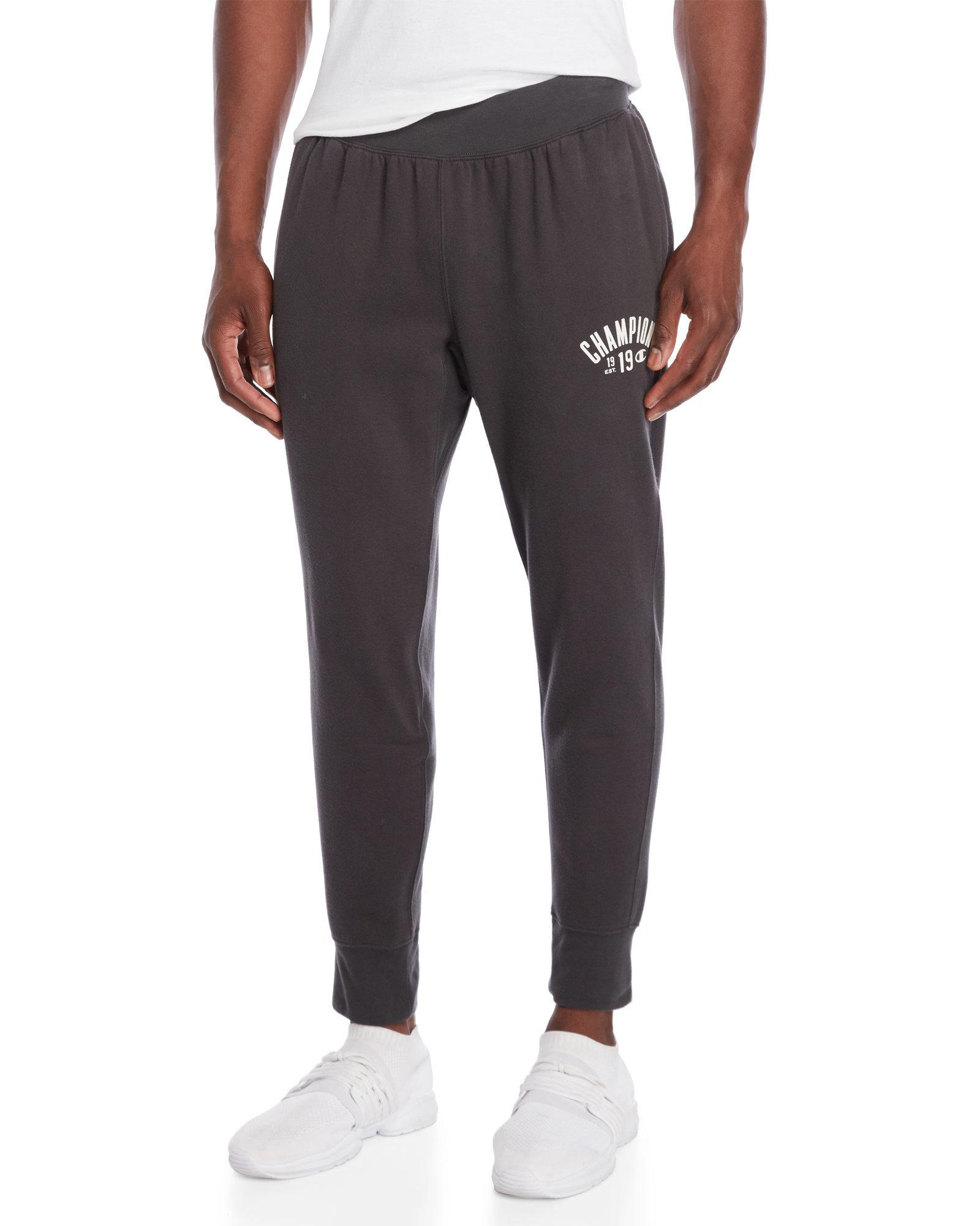 6270a4bca1355e Lyst - Champion Charcoal Fleece Arch Logo Joggers in Gray for Men