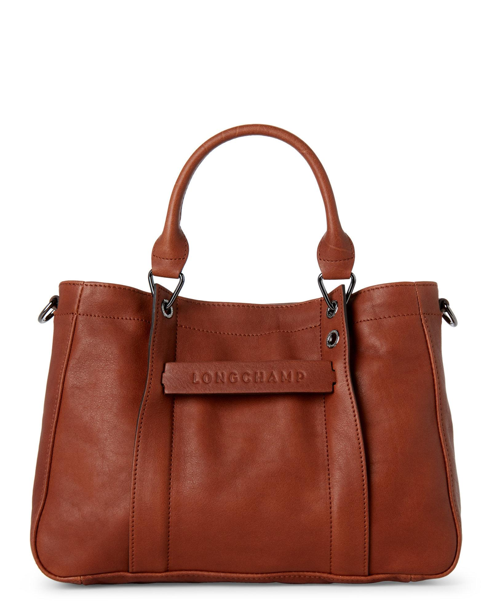 Lyst - Longchamp 3d Small Leather Tote in Brown 2ce9bf5af39c8