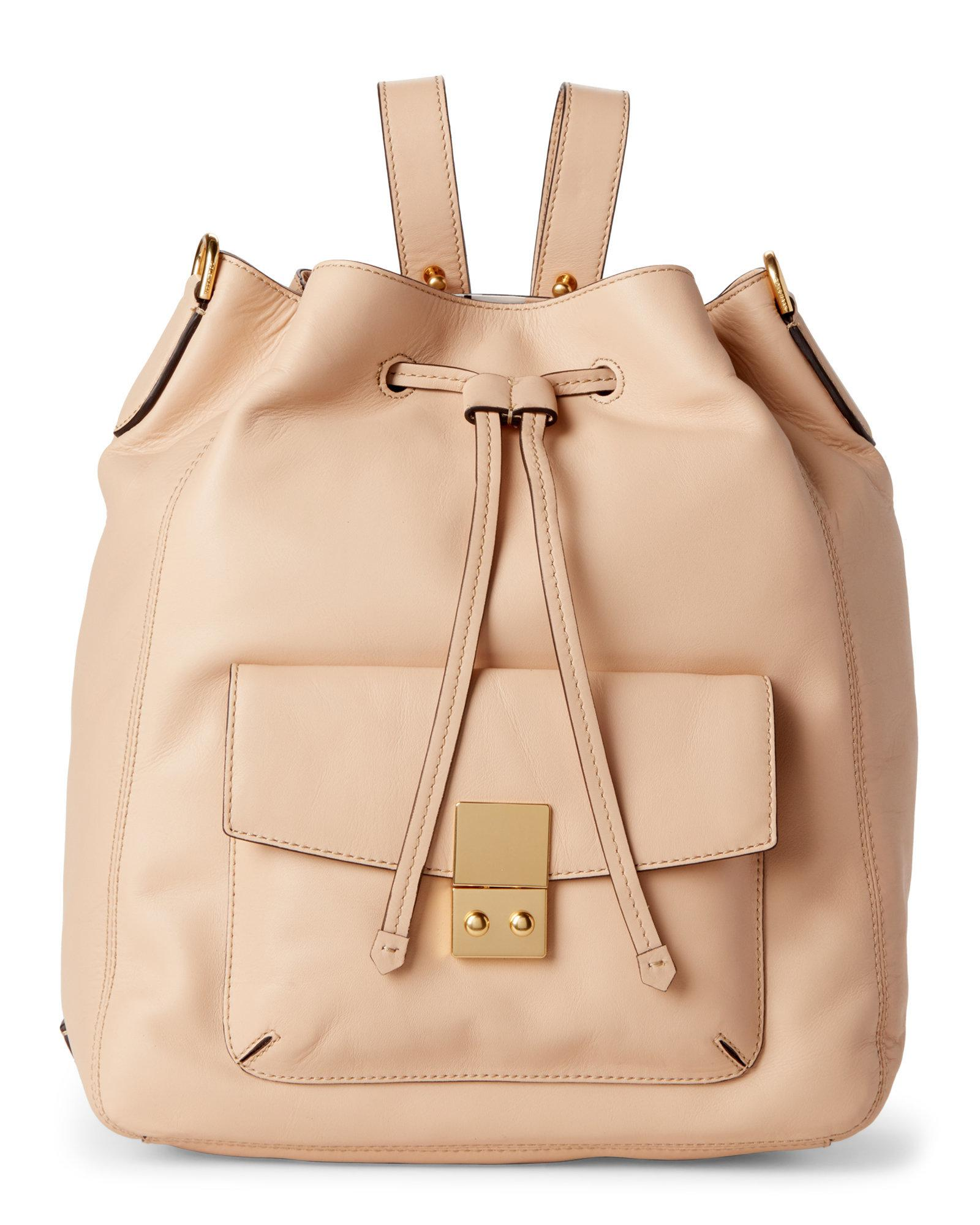 4ed6b301721f Lyst - Cole Haan Nude Alanna Convertible Leather Backpack in Natural