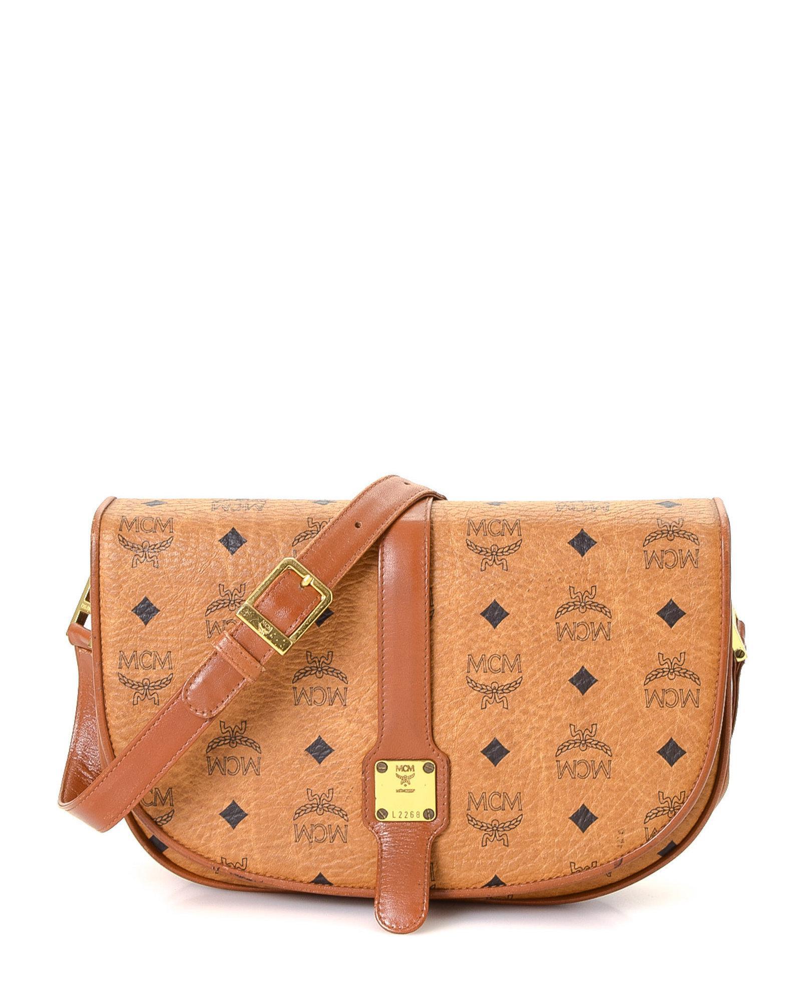7fb962a05 MCM Visetos Shoulder Bag - Vintage in Brown - Lyst