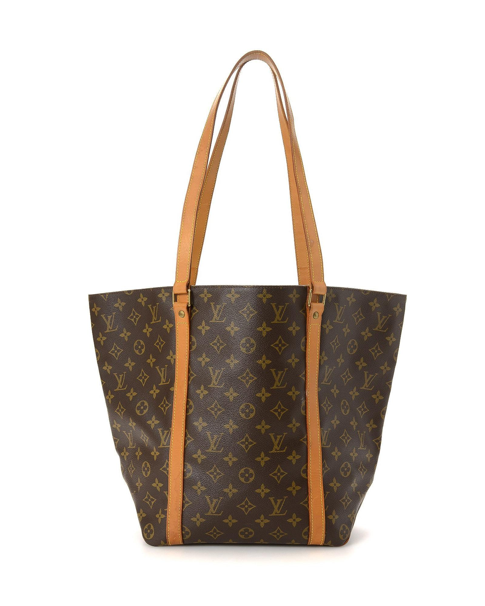 1a16e9760367 Lyst - Louis Vuitton Sac Shopping Tote - Vintage in Brown