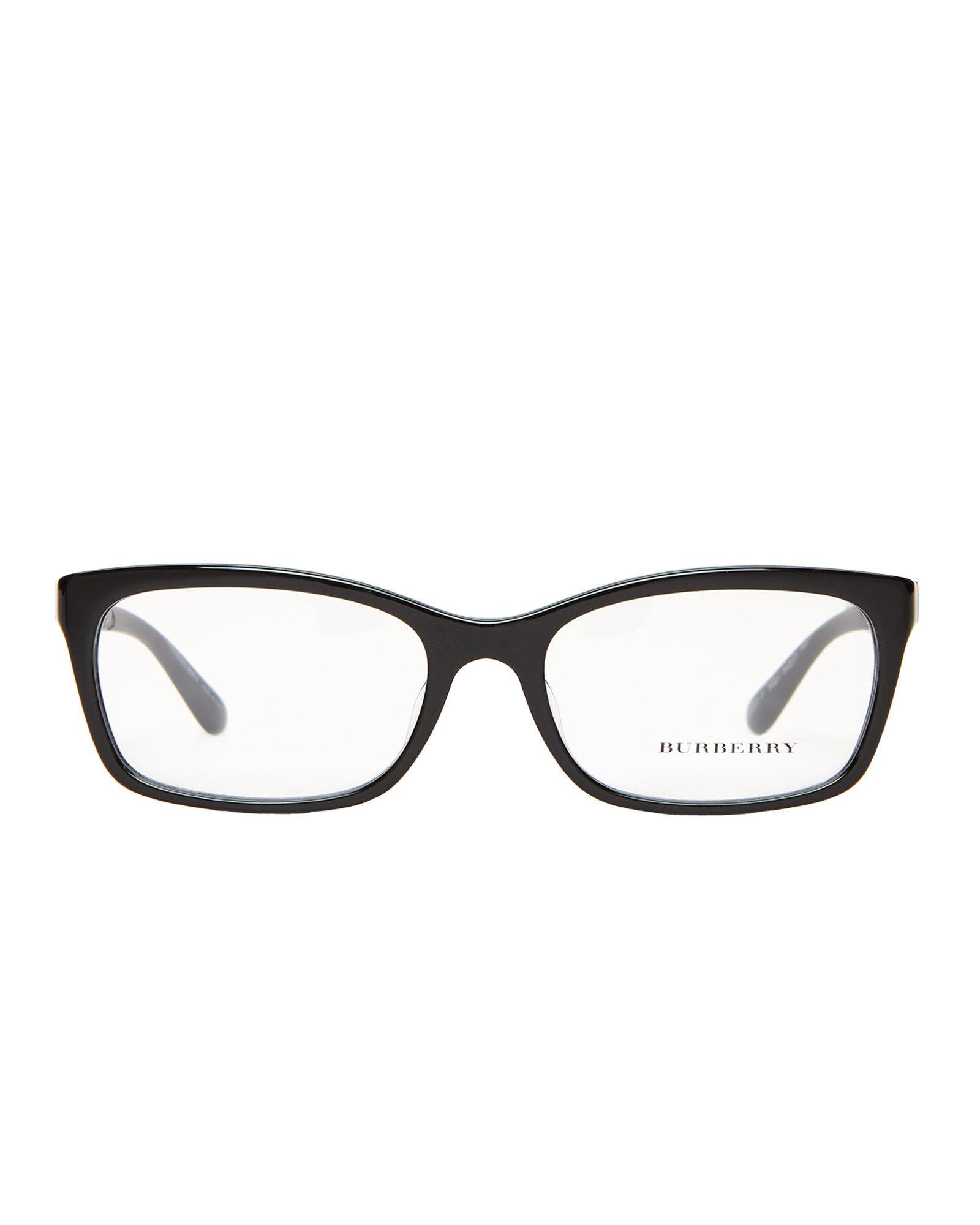 08606f381c Lyst - Burberry B2220-f Black Rectangle Optical Frames in Black for Men
