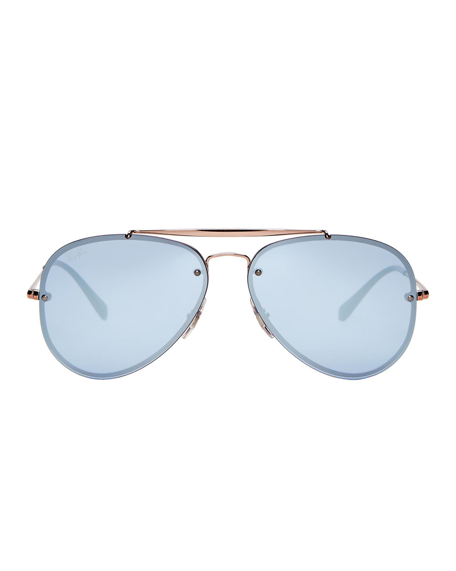 904ac95aa7f ... Lyst - Ray-Ban Rb 3584 Rose Gold-tone Blaze Aviator Sunglass sale  online . ...