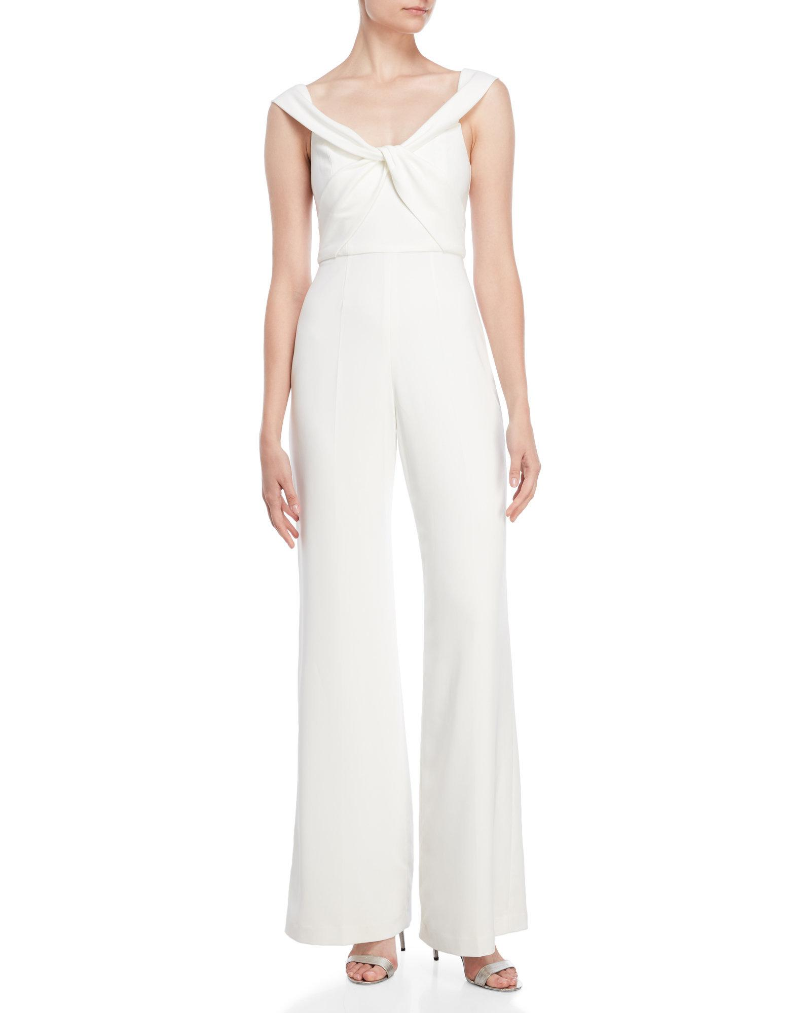 cf2adf574e08 Lyst - Jay Godfrey The Olenna Jumpsuit in White
