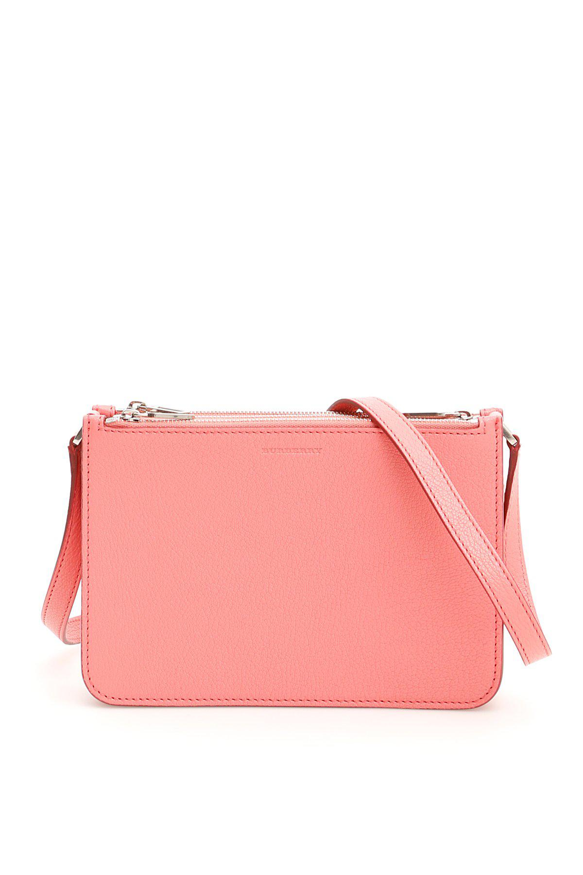 0852005ea87f Burberry Penhurst Triple Zip Bag in Pink - Lyst