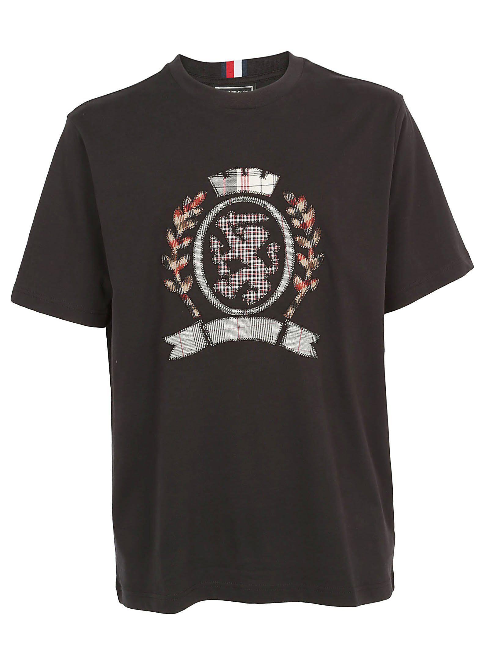 0eb2336b Tommy Hilfiger Embroidered T-shirt in Black for Men - Lyst