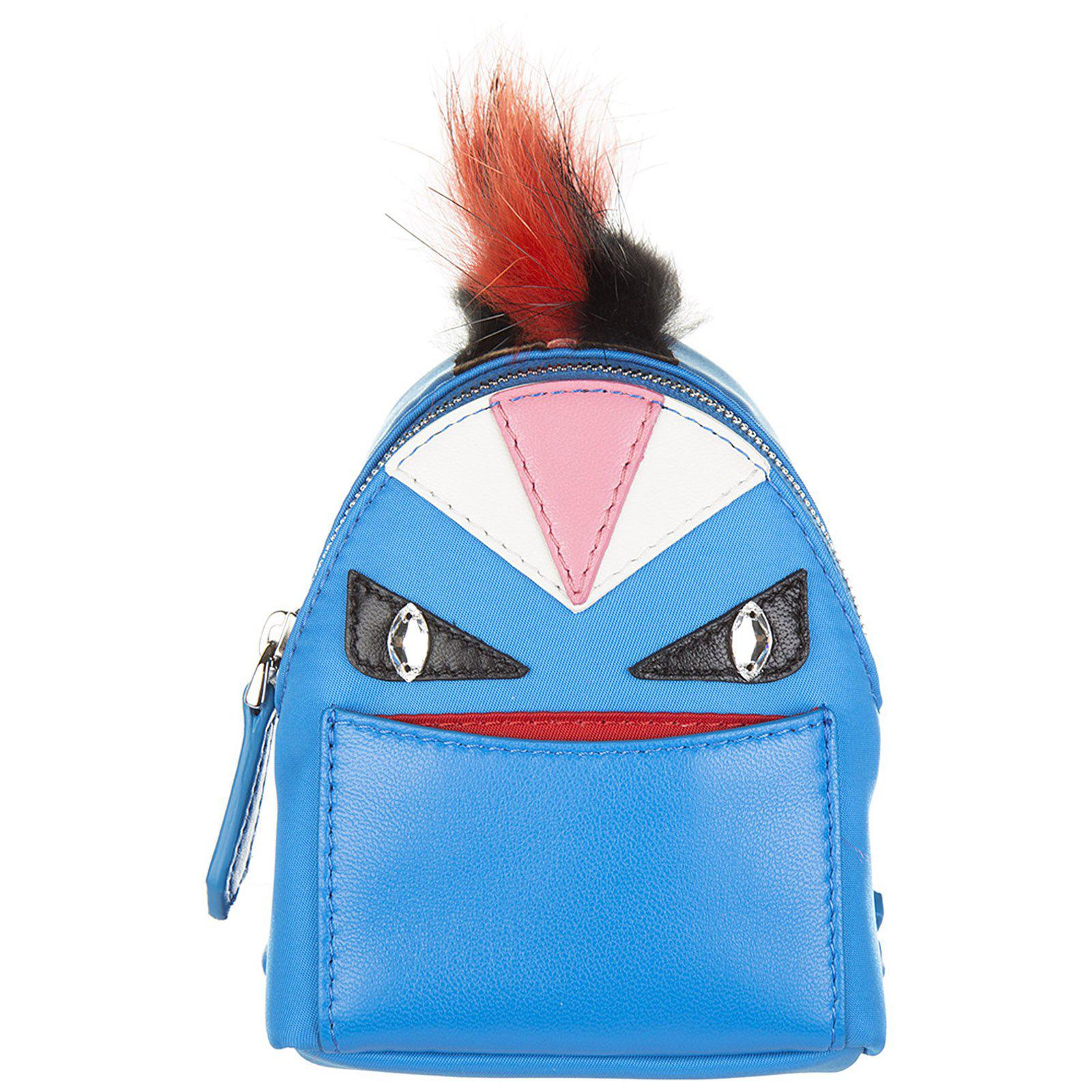 a0aa93f2bcba Fendi Bag Bugs Backpack Charm in Blue - Lyst