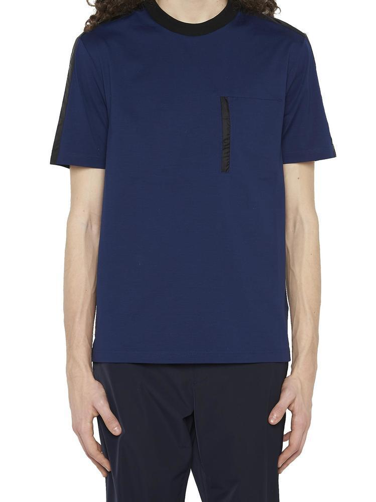 4506e6e8e343 Lyst - Prada Contrasted Stripe T-shirt in Blue for Men