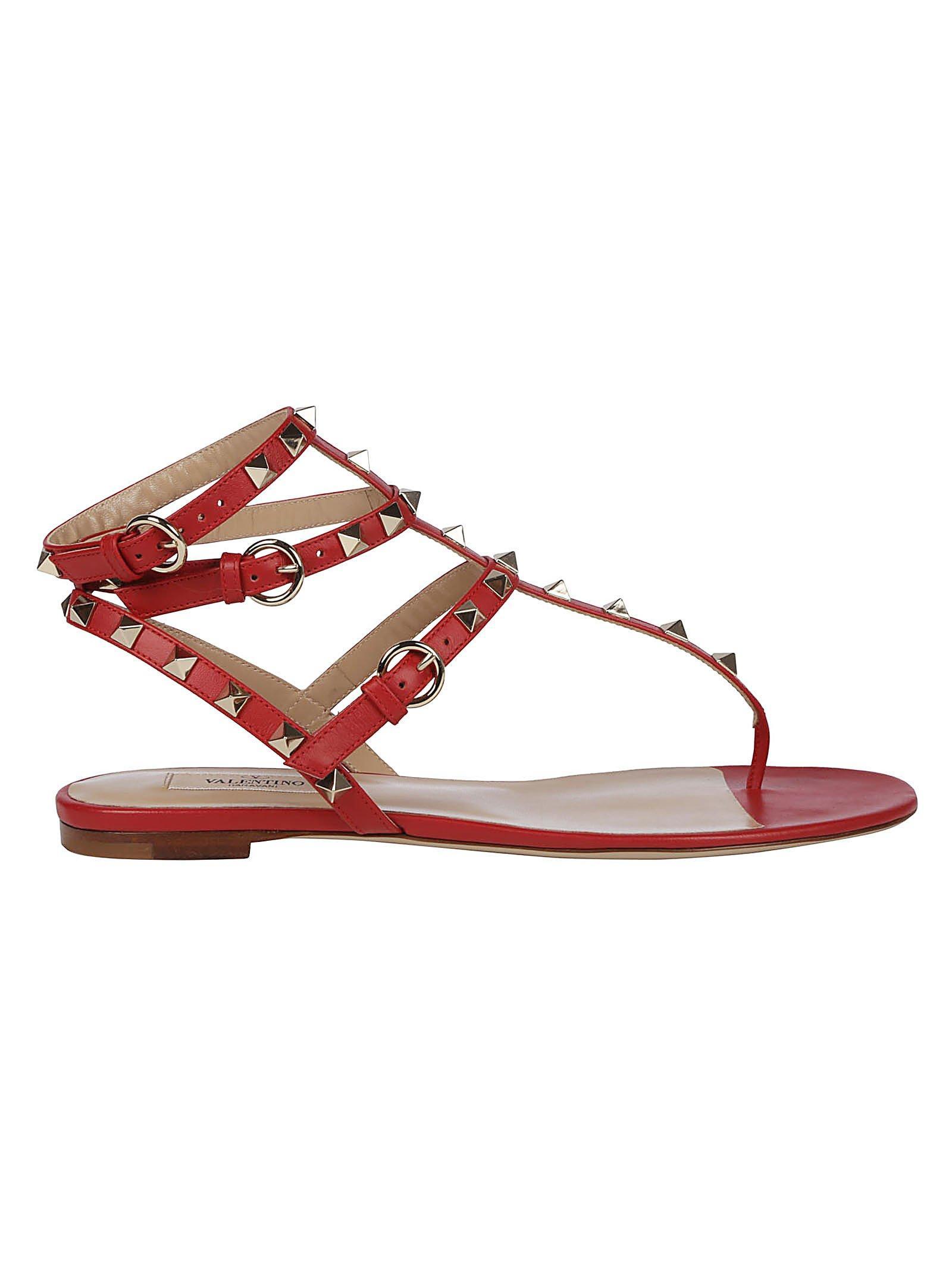 c15cf0aedd830 Valentino - Red Garavani Rockstud Strappy Sandals - Lyst. View fullscreen