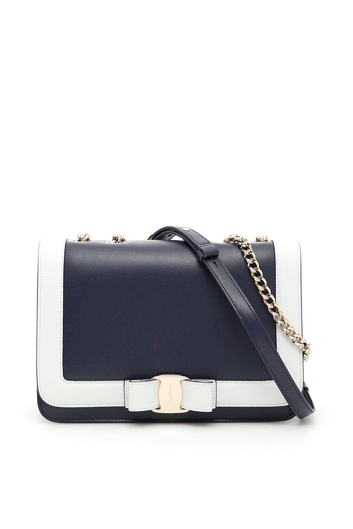 24136dc09649 Lyst - Ferragamo  vara  Shoulder Bag in Blue - Save 56.18320610687023%