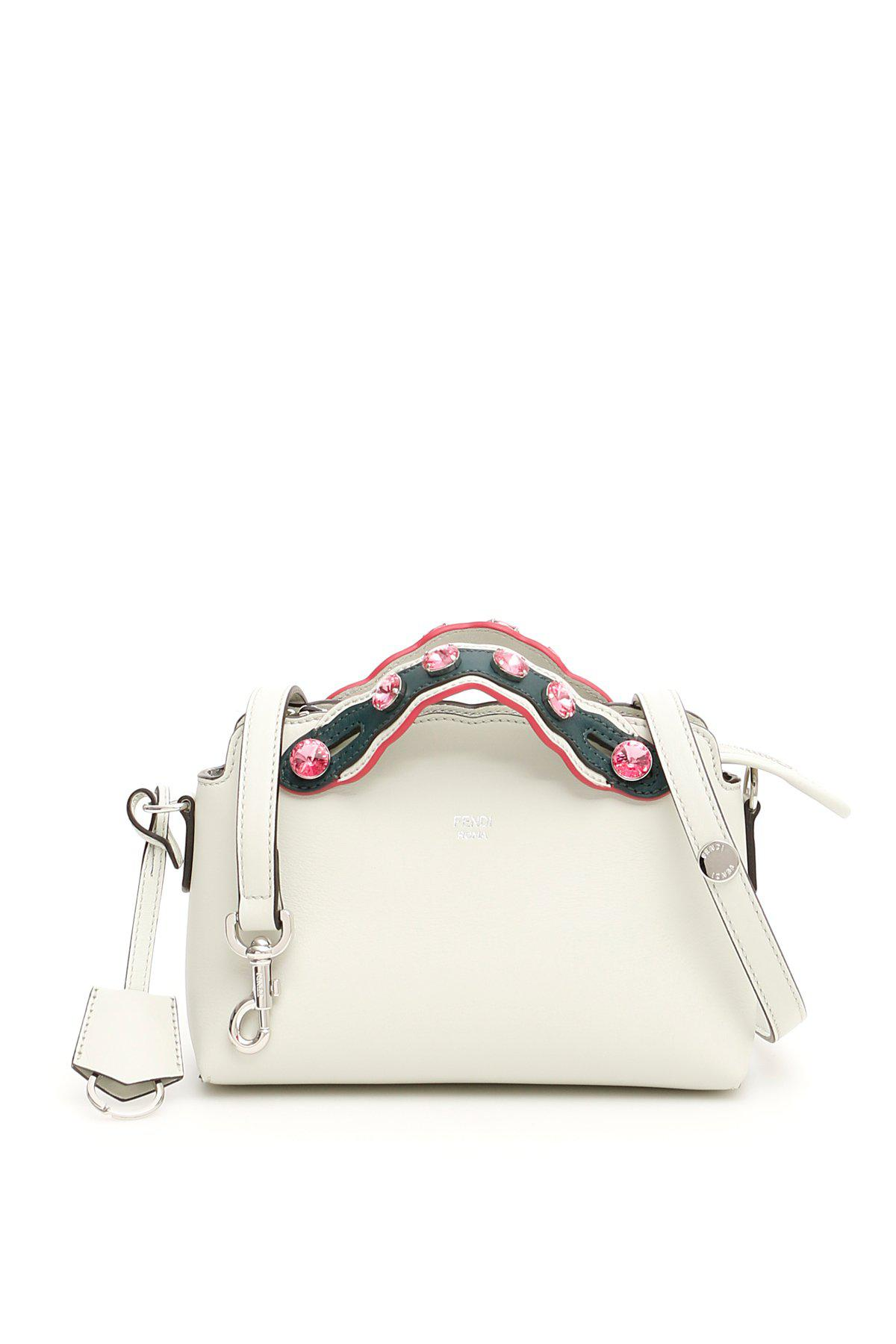 Lyst - Fendi By The Way Embellished Tote Bag in White 6f1e85ae4740e