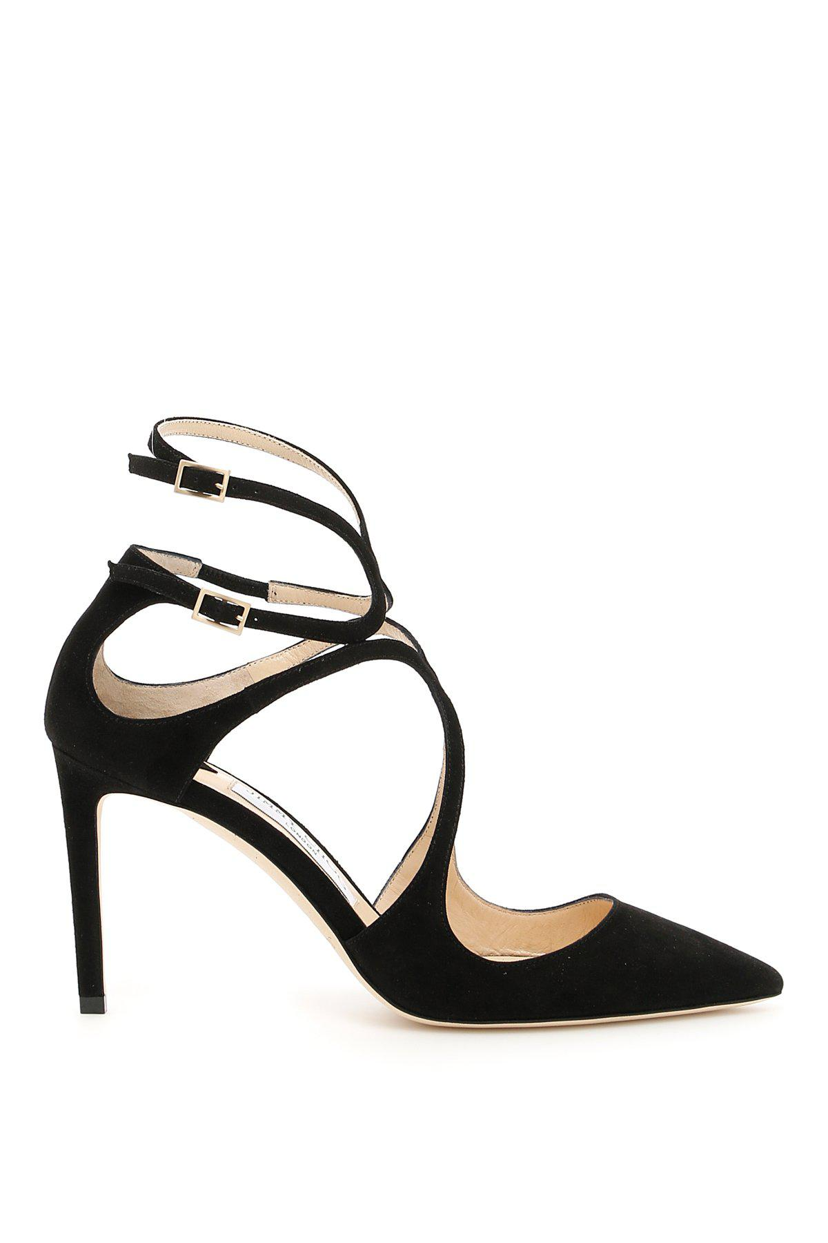 83f752f2f981 Jimmy Choo Lancer 85 Suede Pumps in Black - Lyst
