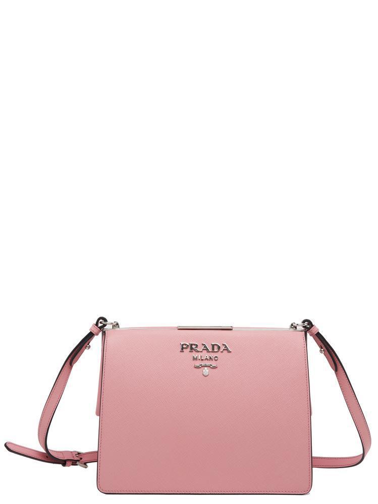 8d5a954623cc Lyst - Prada Light Frame Crossbody Bag in Pink