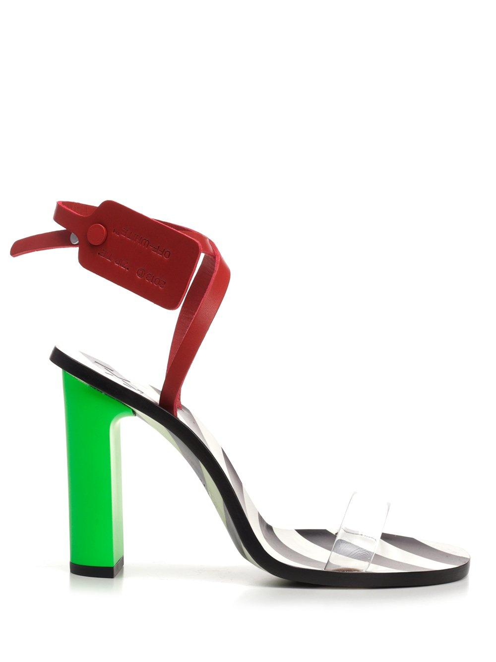 2b153850f794 Lyst - Off-White c o Virgil Abloh Zip Tie Sandals in Red - Save 28%