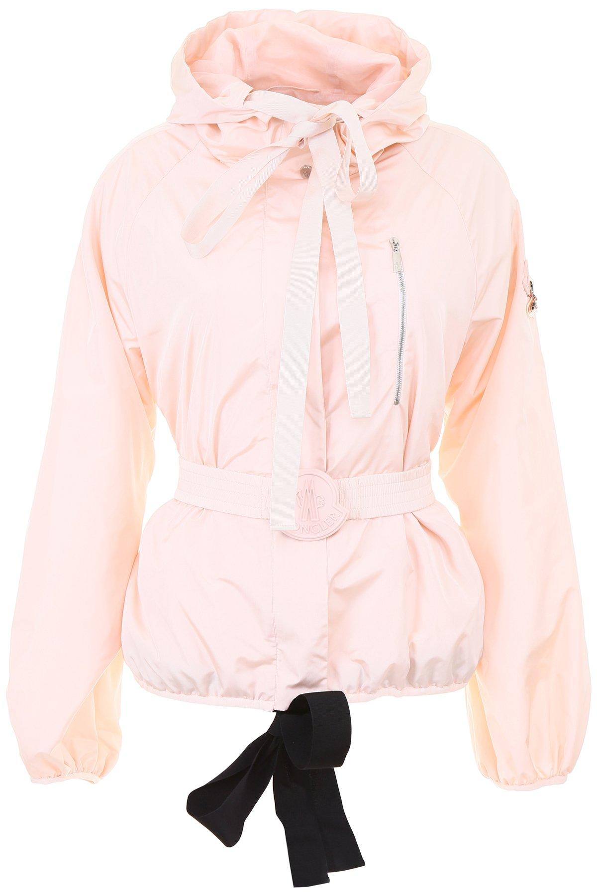 007a51bac187 Moncler Gamme Rouge Belted Jacket in Pink - Save 54% - Lyst