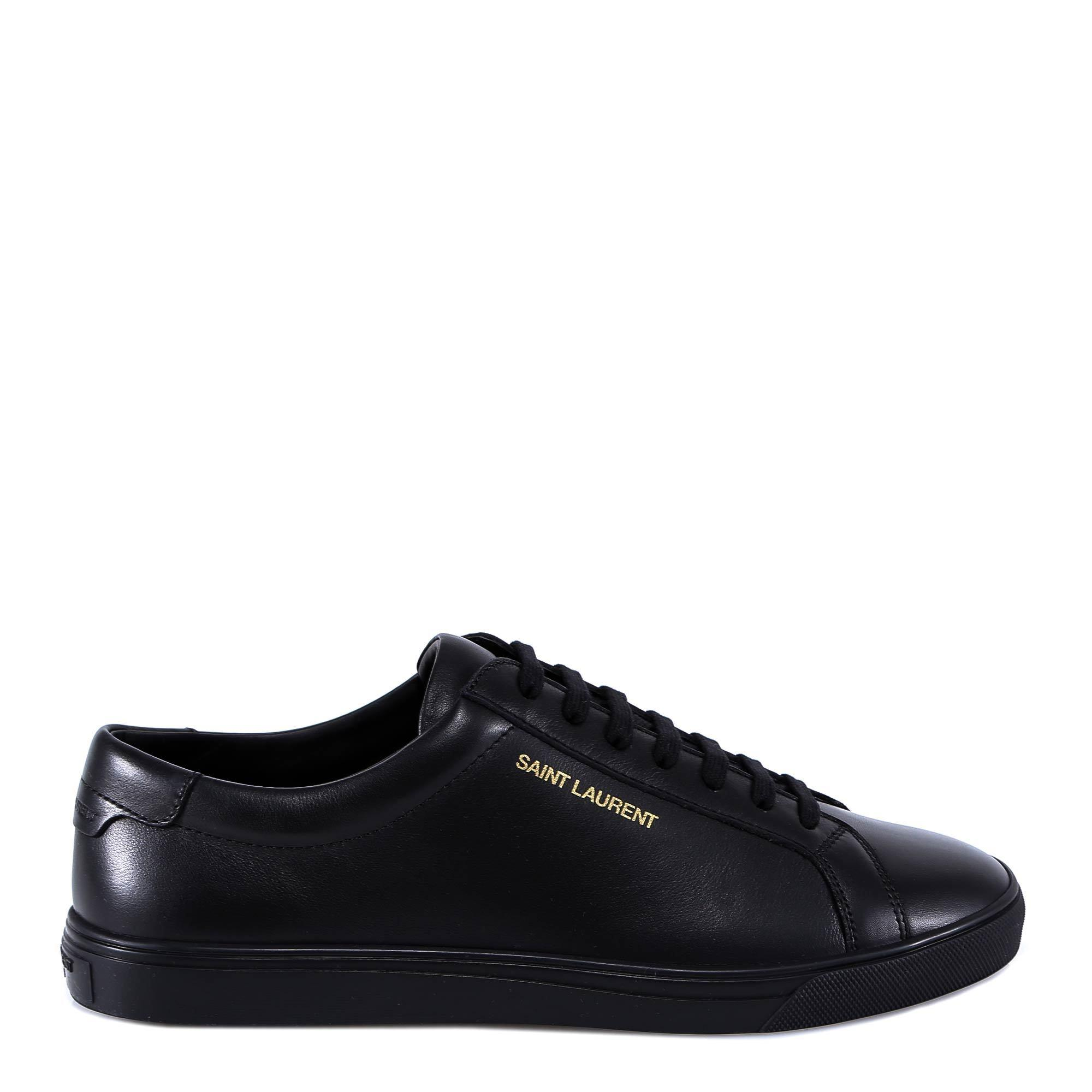 6aa5591e86f Saint Laurent - Black Andy Lace-up Sneakers for Men - Lyst. View fullscreen